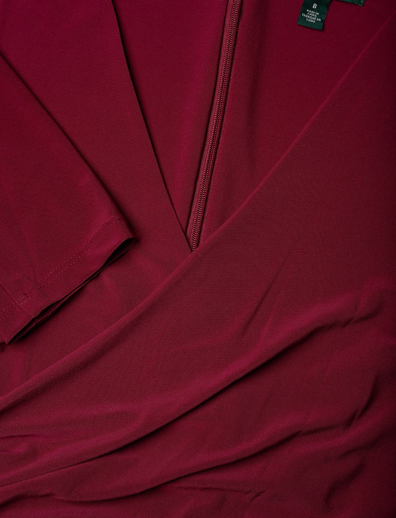 Lauren Ralph Lauren MID WEIGHT MJ-LONG GOWN W/ TRIM - Sukienki DARK RASPBERRY - Kobiety Odzież.