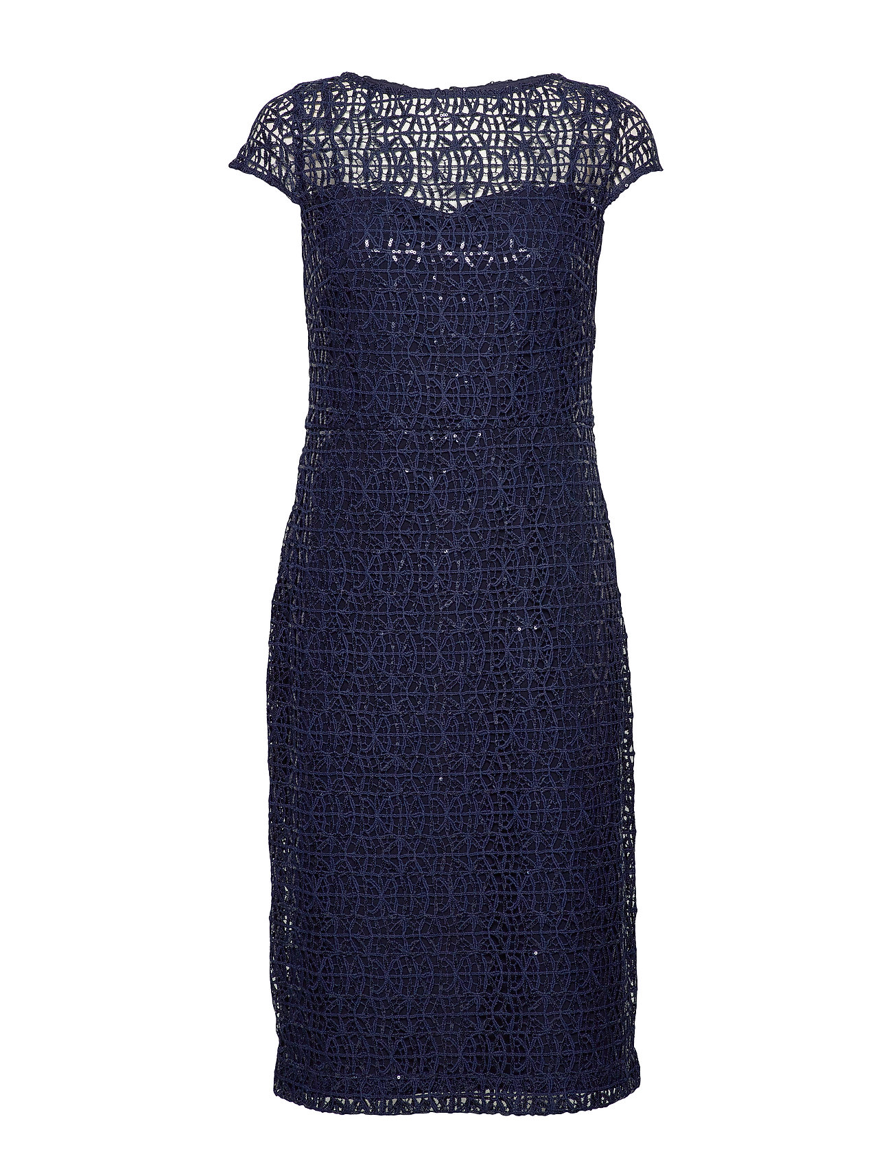 Lauren Ralph Lauren MRRSN SQN CHEM LACE-COCKTAIL DRESS - LIGHTHOUSE NAVY