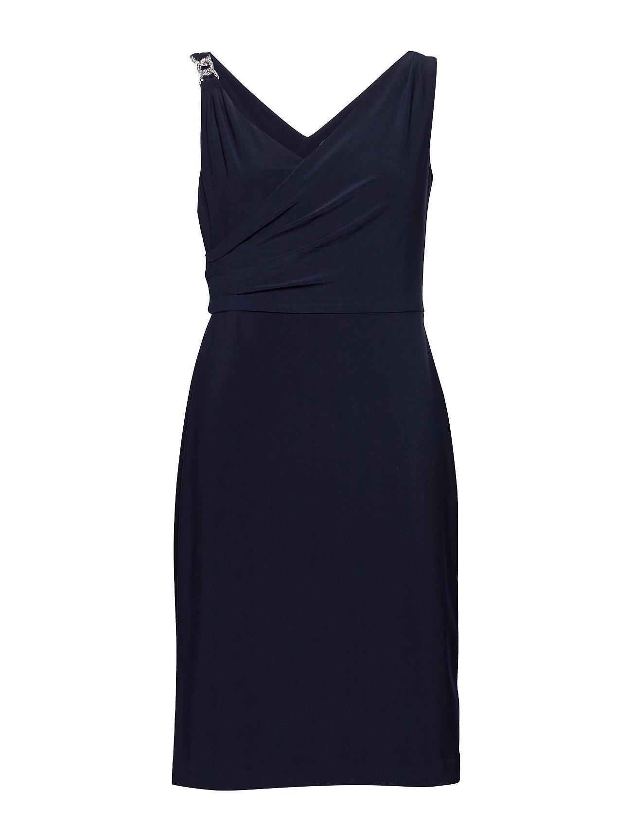 Lauren Ralph Lauren Jersey Cocktail Dress - LIGHTHOUSE NAVY
