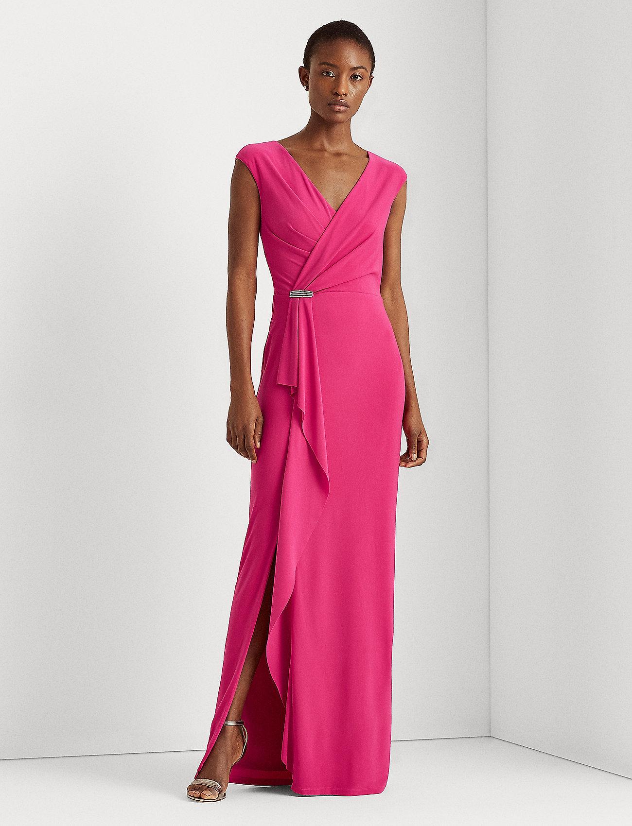 Lauren Ralph Lauren - Ruffle-Trim Jersey Gown - aruba pink - 0