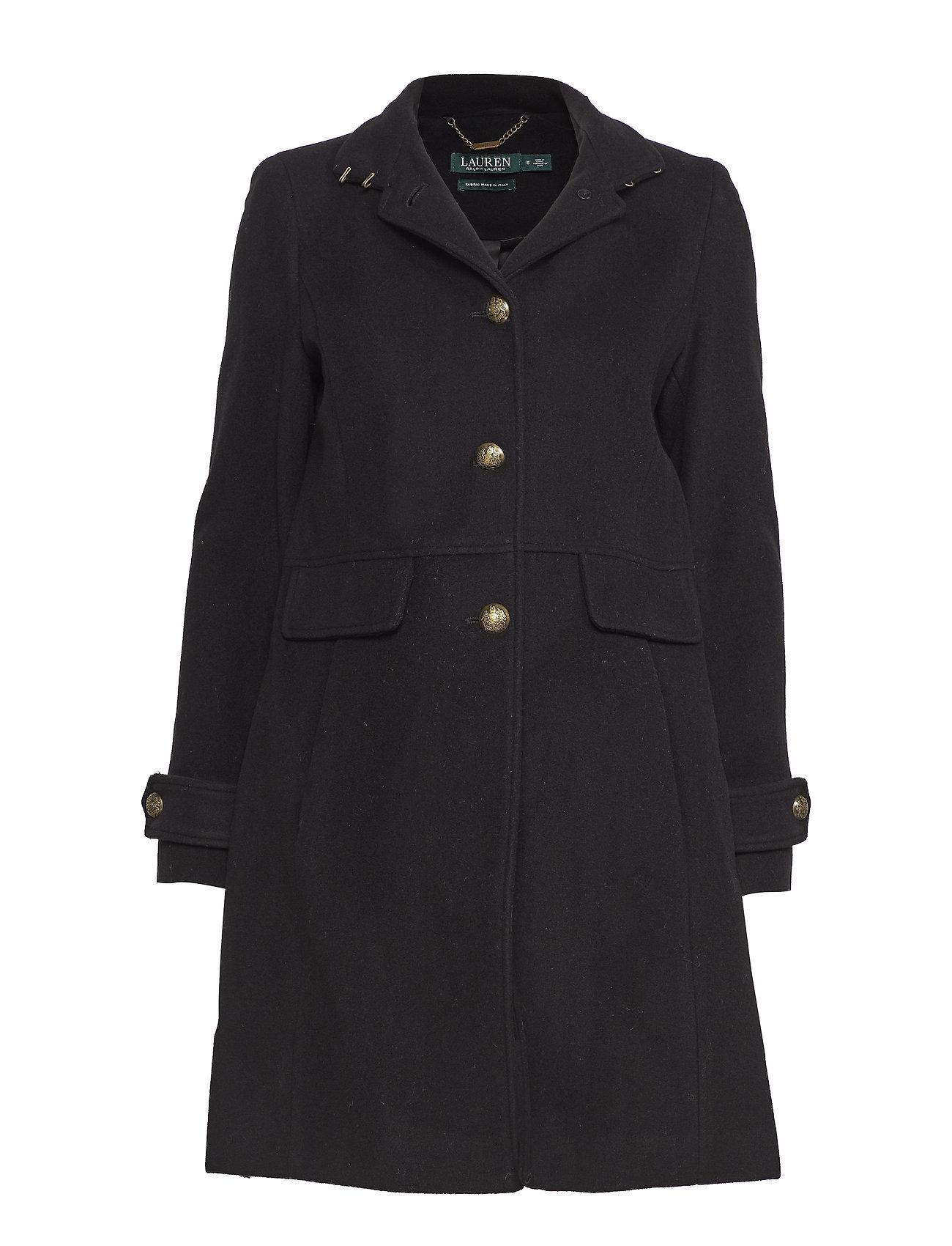 efe69066a86b Wool-blend Coat (Black) (£189) - Lauren Ralph Lauren -
