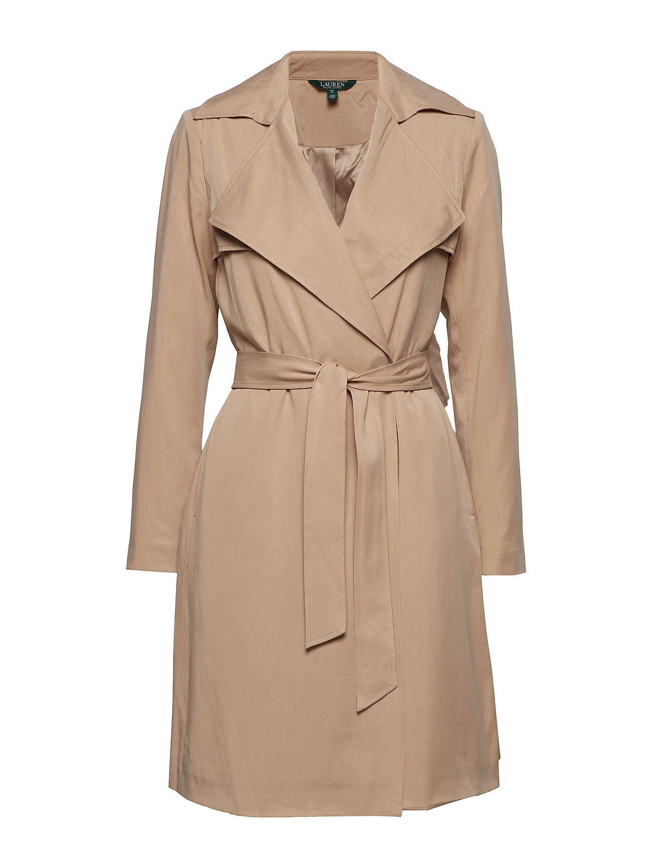 Lauren Ralph Lauren TENCEL-DRAPE LAPEL TC WRAP - LIGHT TAN