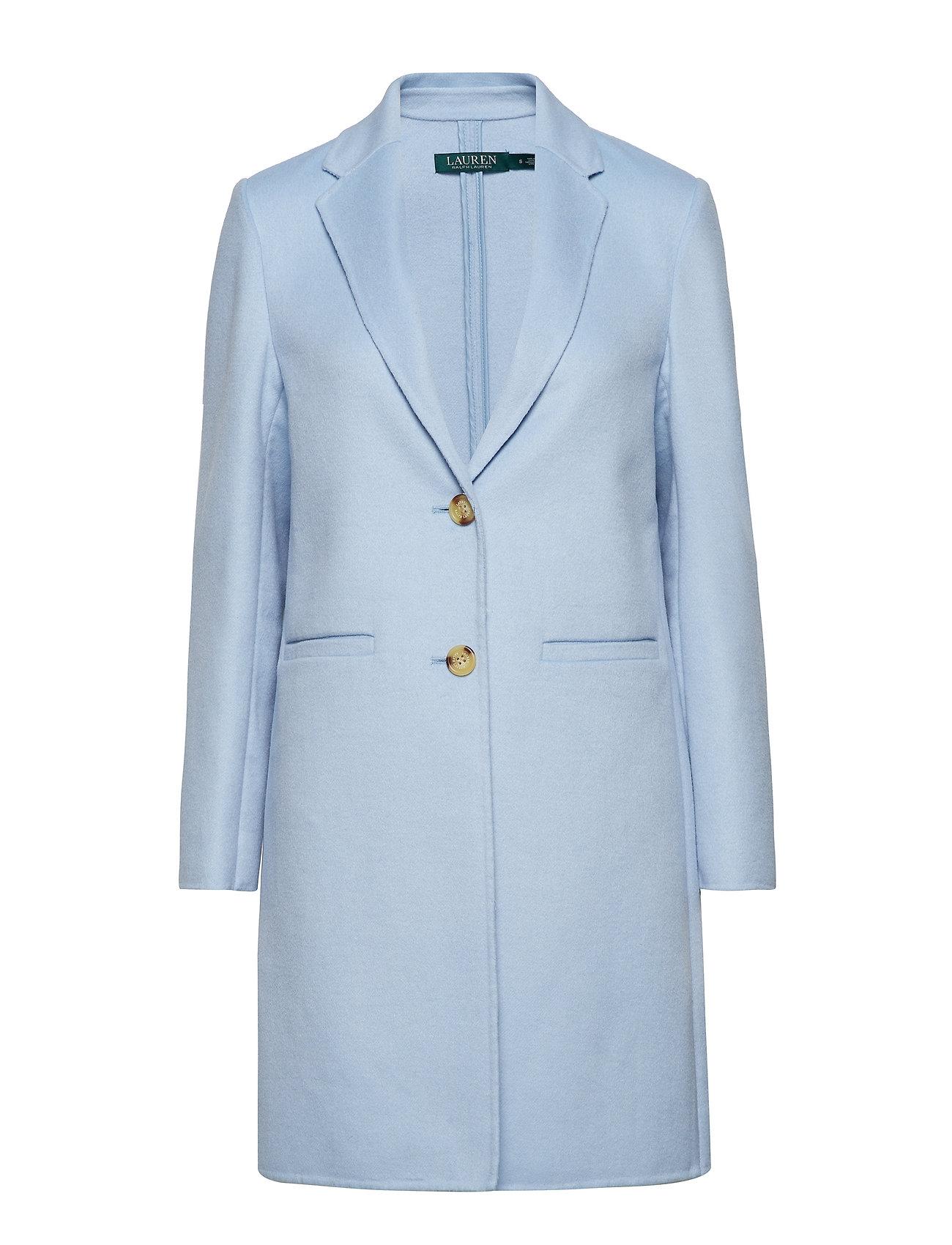3e7d2a519916 Wool-blend Two-button Coat (Light Blue) (£236.25) - Lauren Ralph ...