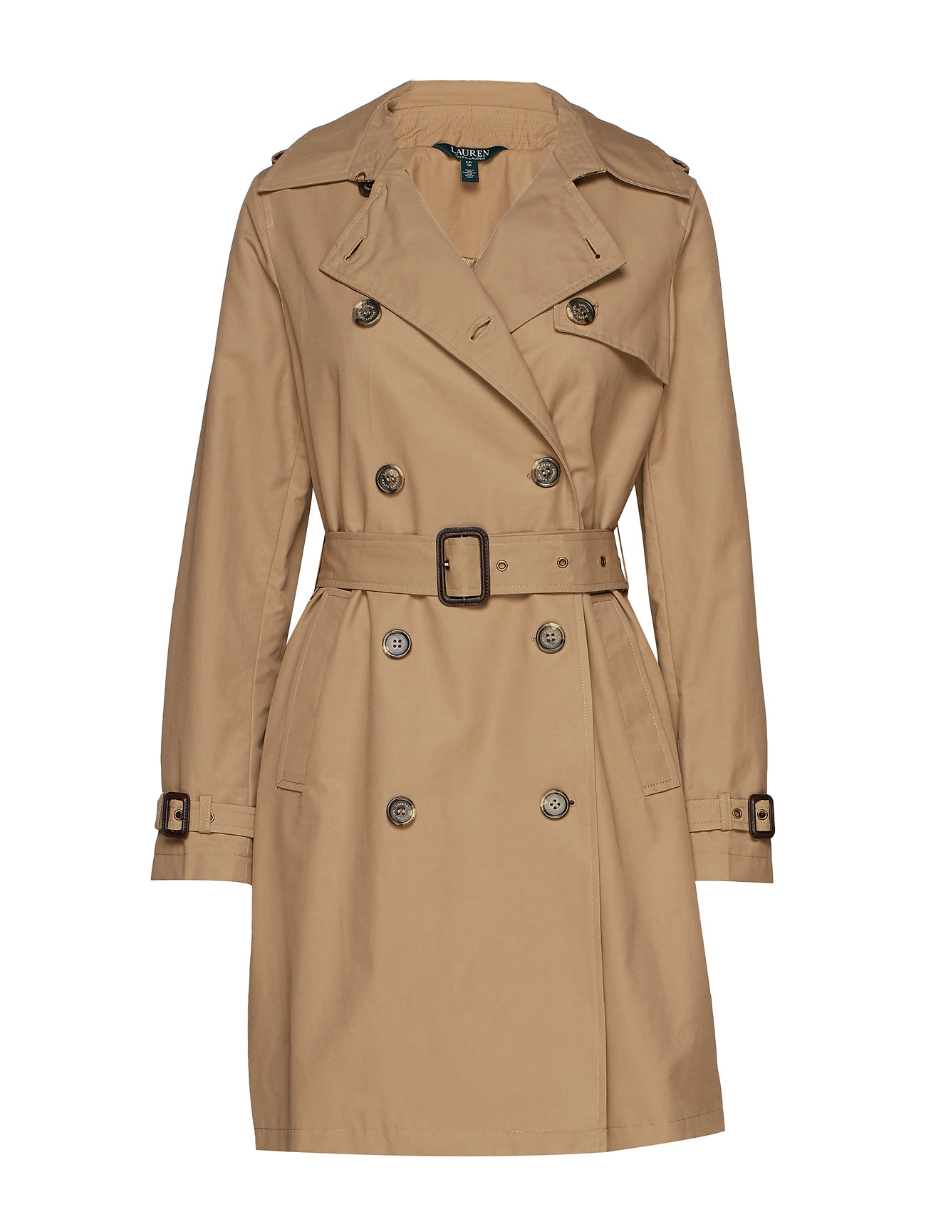 Lauren Ralph Lauren Cotton-Blend Trench Coat - SAND
