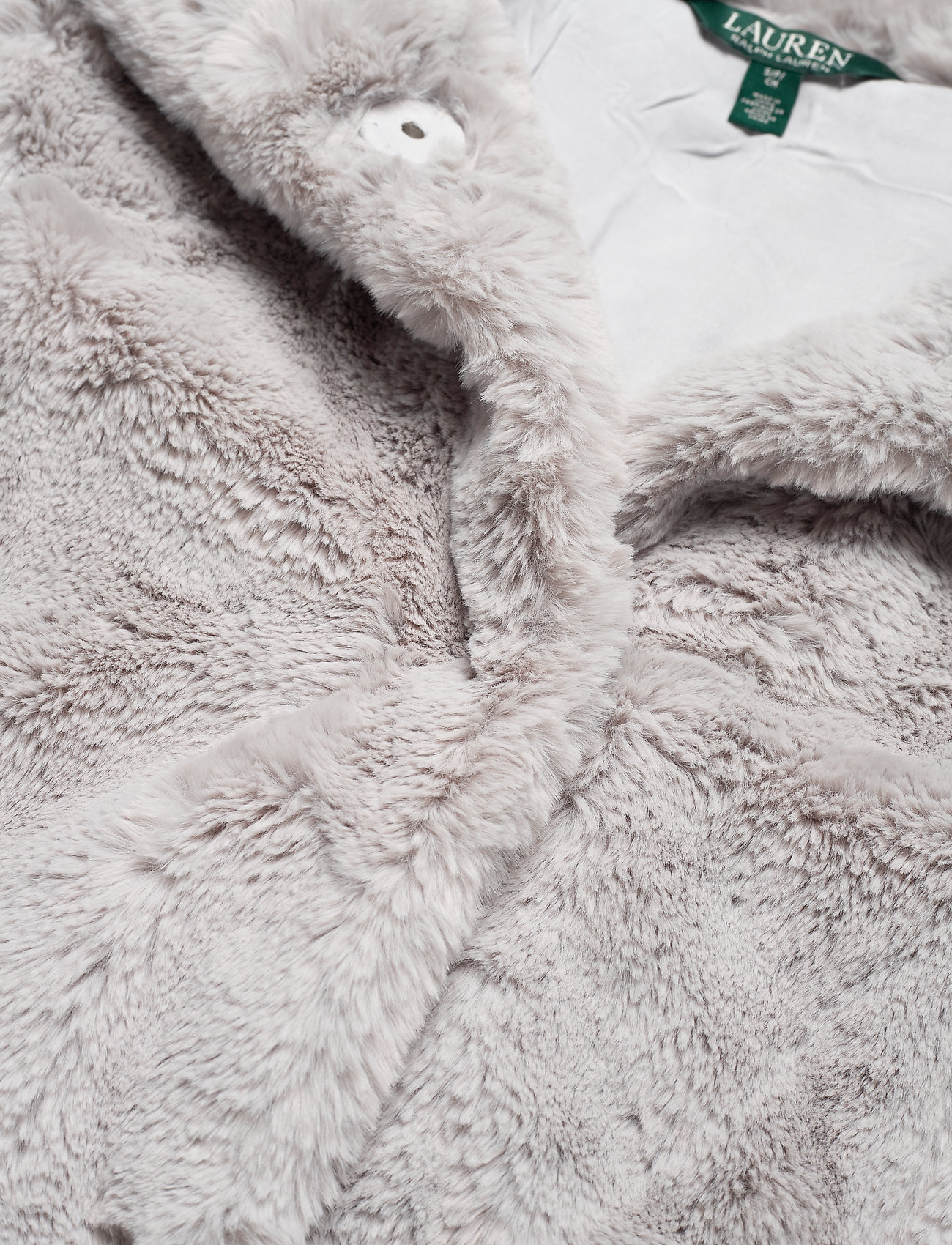 Lauren Ralph Lauren FAUX FUR-FAUX FURY CHUBBY - Kurtki i Płaszcze ICY GREY - Kobiety Odzież.