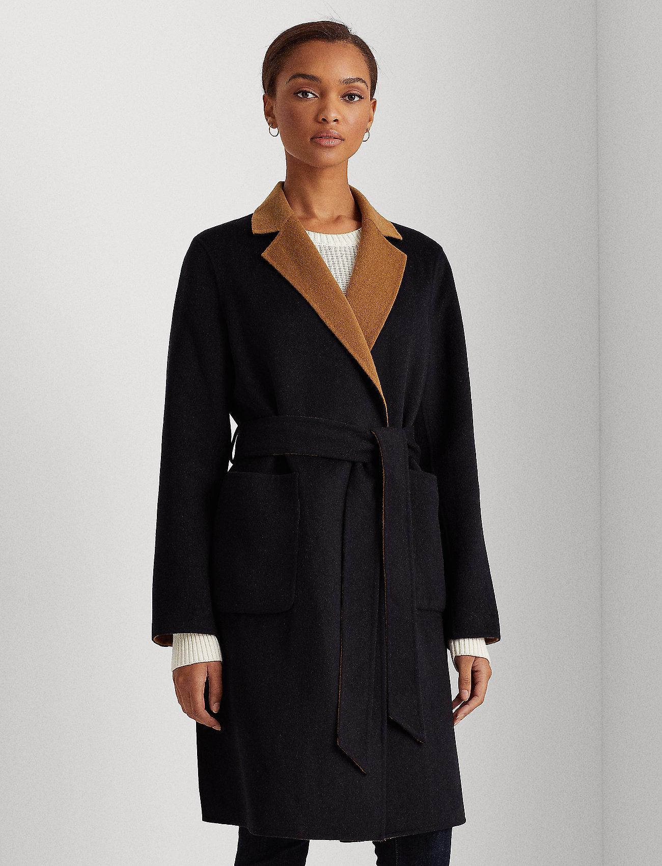 Lauren Ralph Lauren - Reversible Wool-Blend Coat - uldfrakker - dark navy/new vic - 0