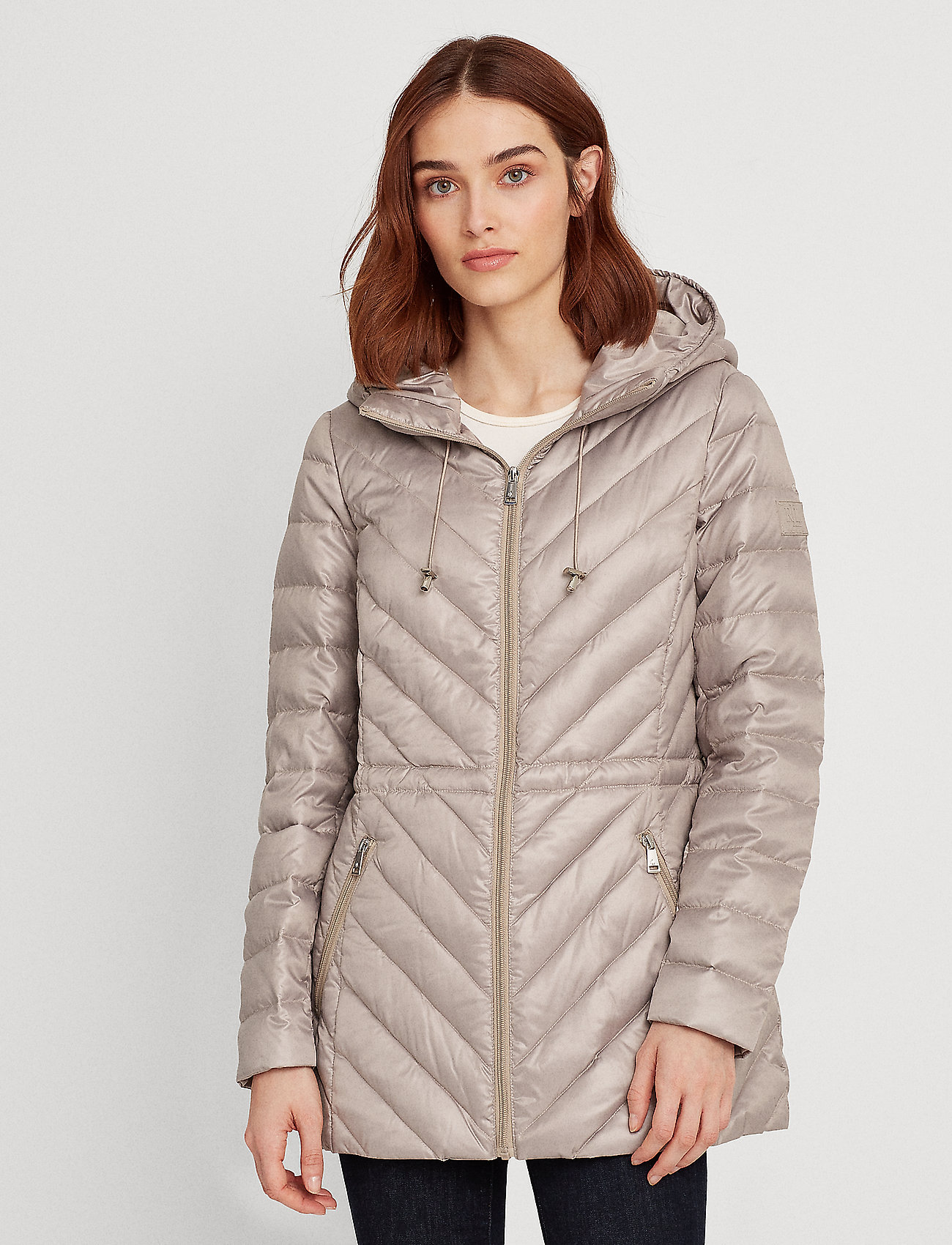 Lauren Ralph Lauren - Packable Down Anorak Coat - dynefrakke - cork - 0