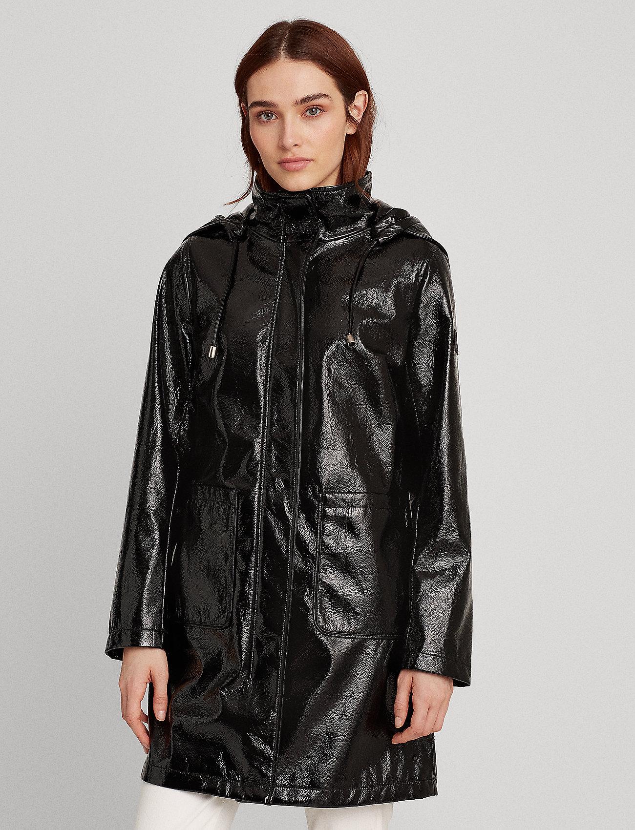 Lauren Ralph Lauren - Hooded Slicker Coat - manteaux de pluie - black - 0