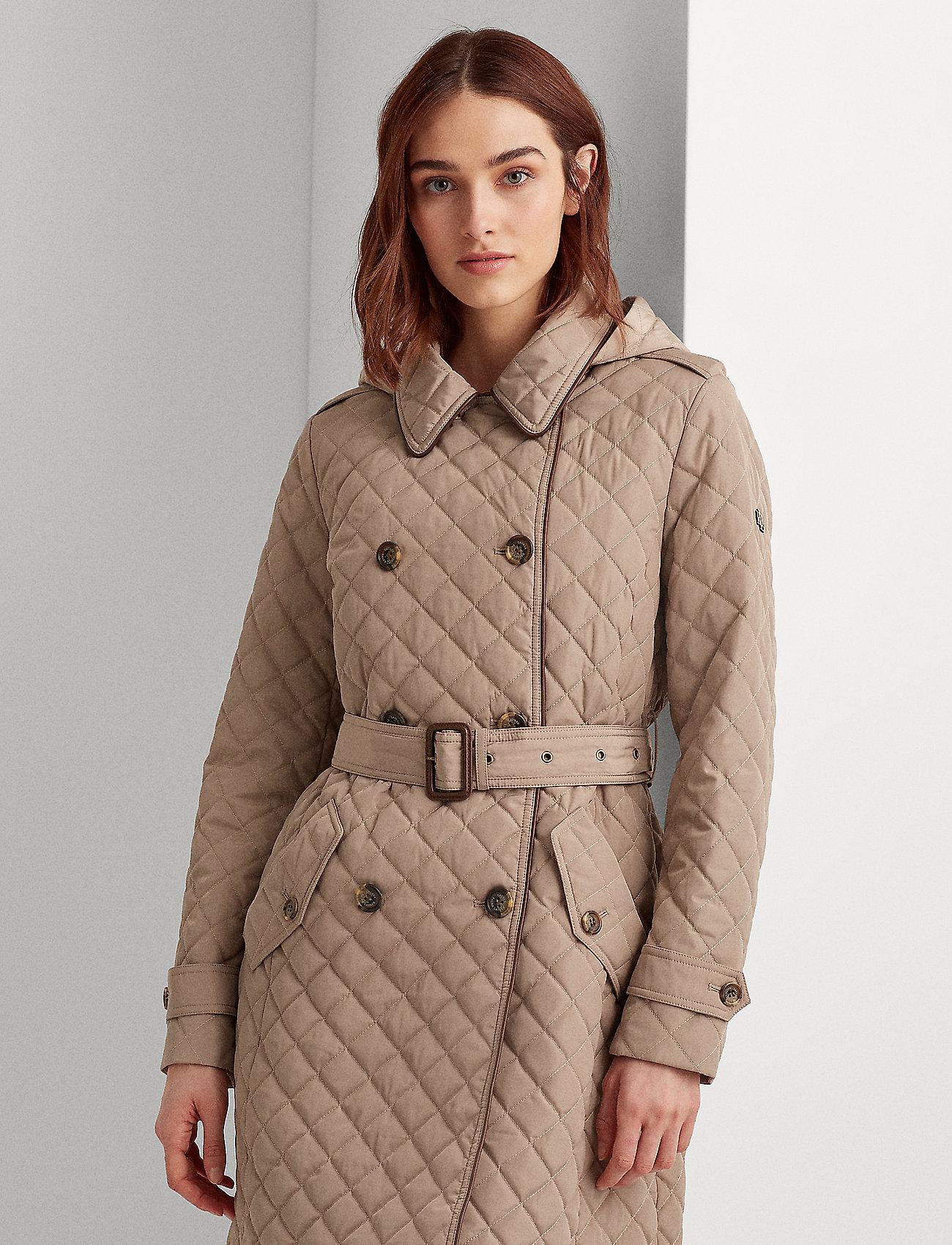 Lauren Ralph Lauren - Quilted Trench Coat - quiltede jakker - taupe - 0
