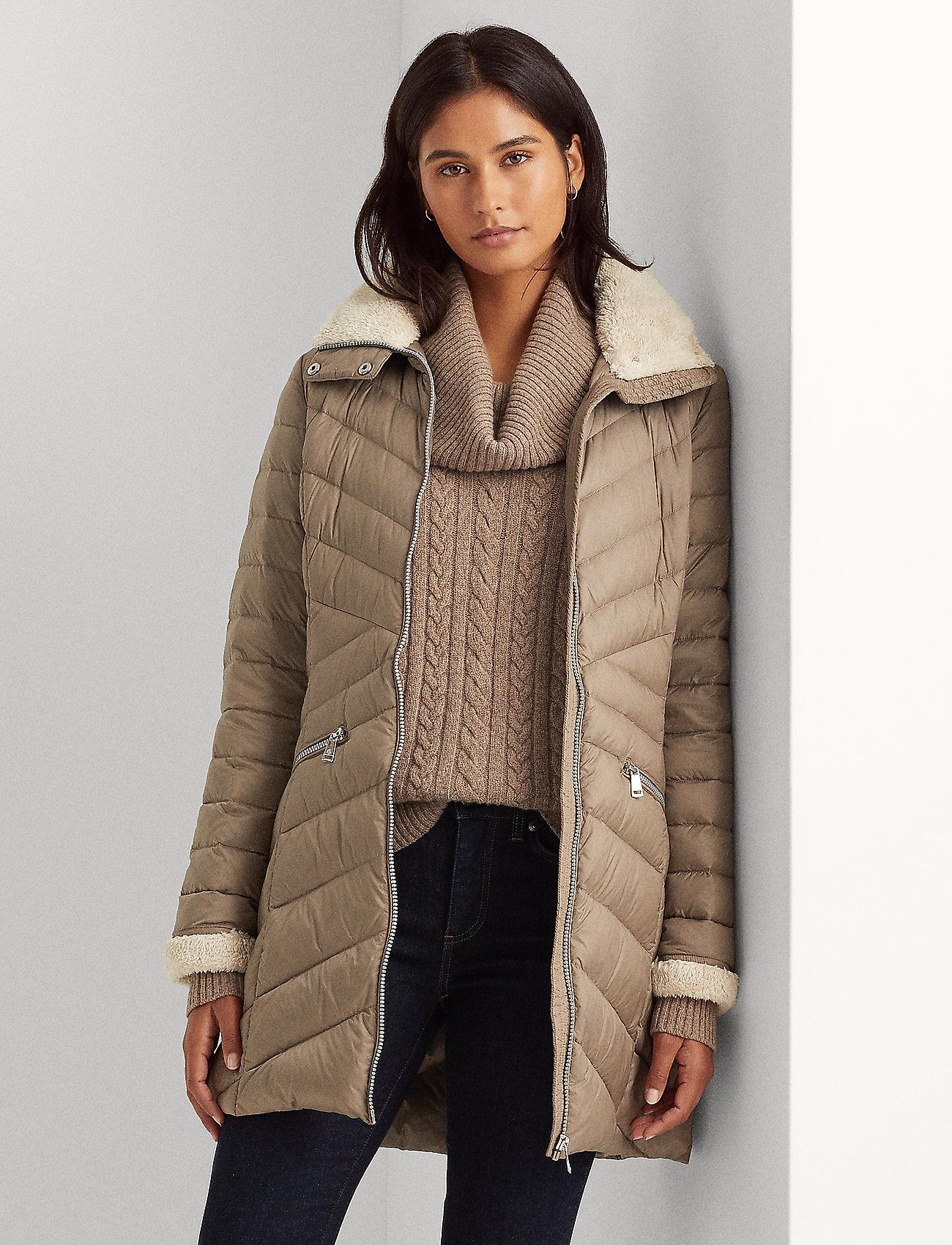 Lauren Ralph Lauren - Packable Quilted Down Jacket - forede jakker - taupe - 0