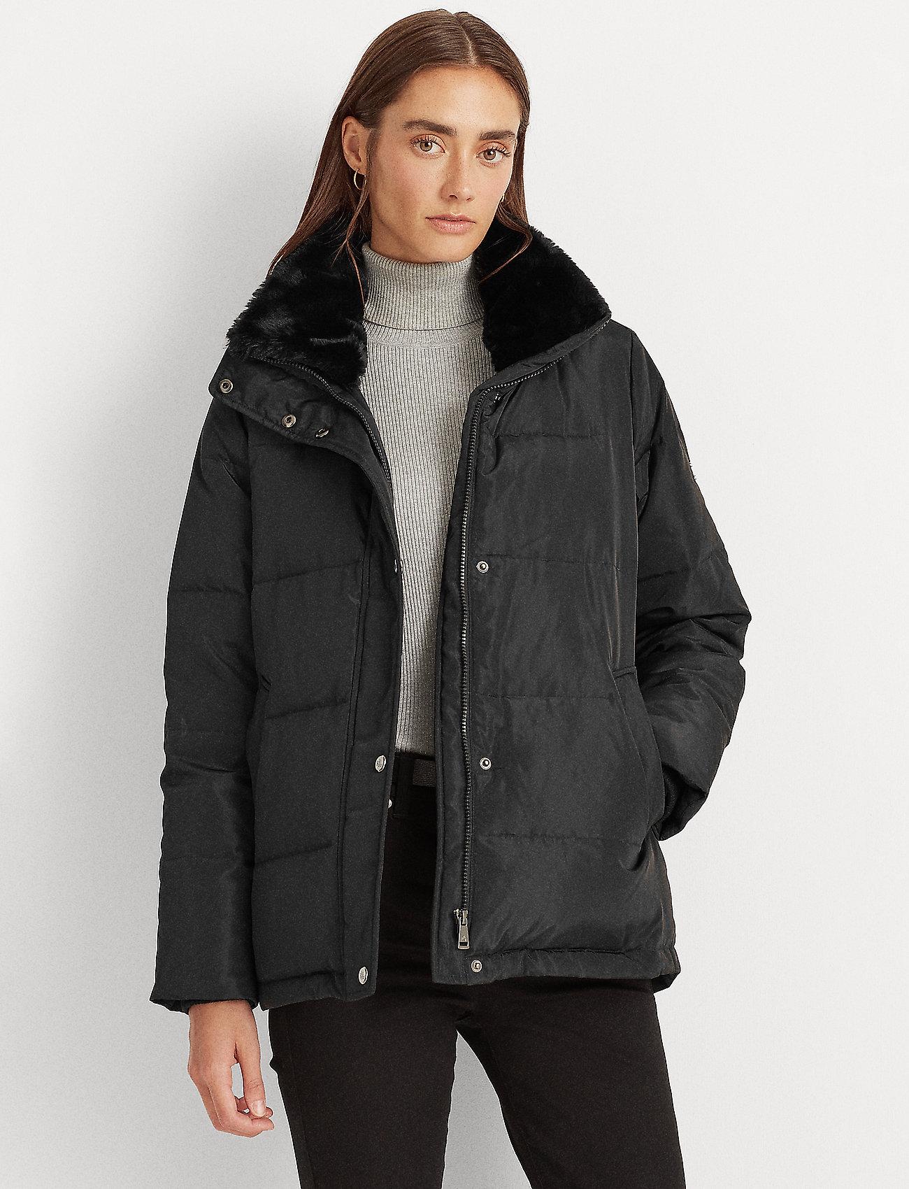 Lauren Ralph Lauren - Boxy Down Jacket - forede jakker - black - 0