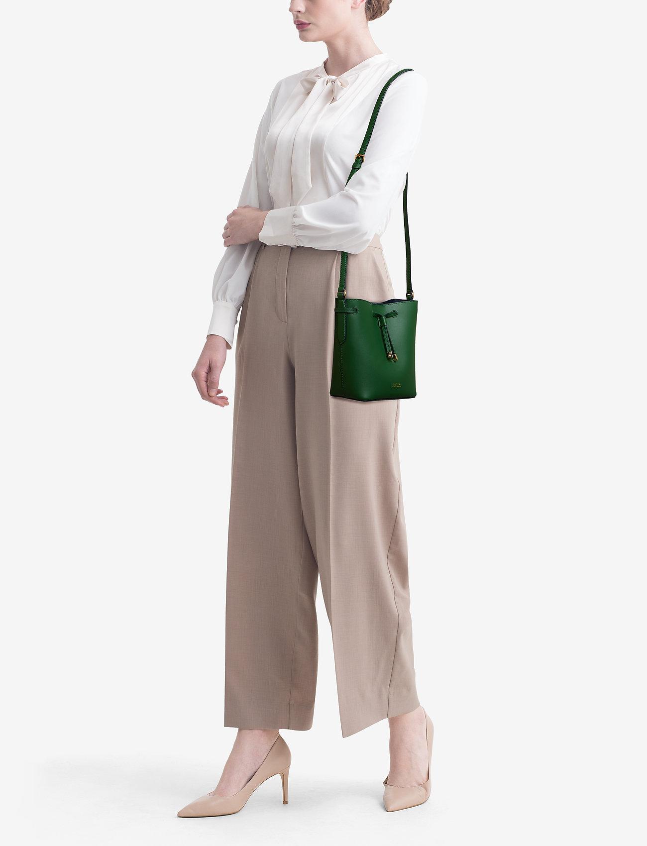 Lauren Ralph Lauren Leather Debby II Mini Drawstring Bag