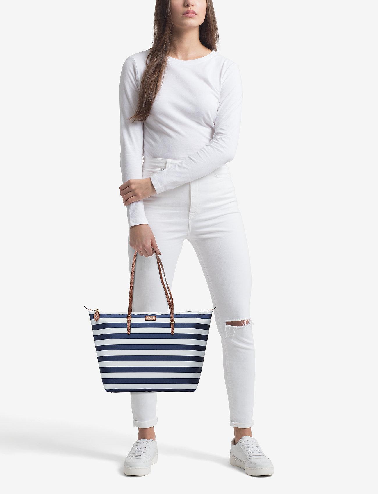 0aad359156 Nylon Tote (Navy Stripe) (£87.75) - Lauren Ralph Lauren - | Boozt.com