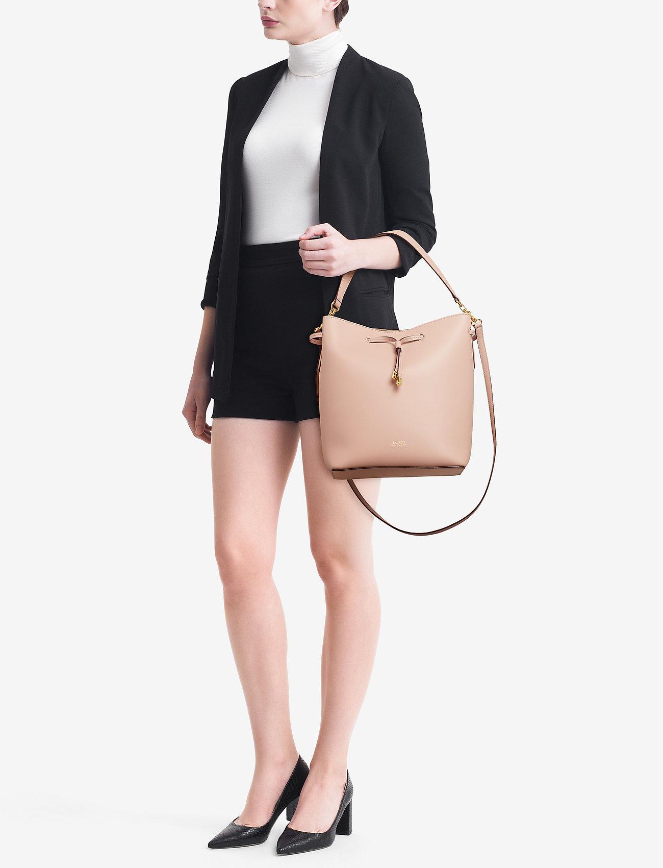 Lauren Ralph Lauren Leather Debby Drawstring Bag - MELLOW PINK/PORCI