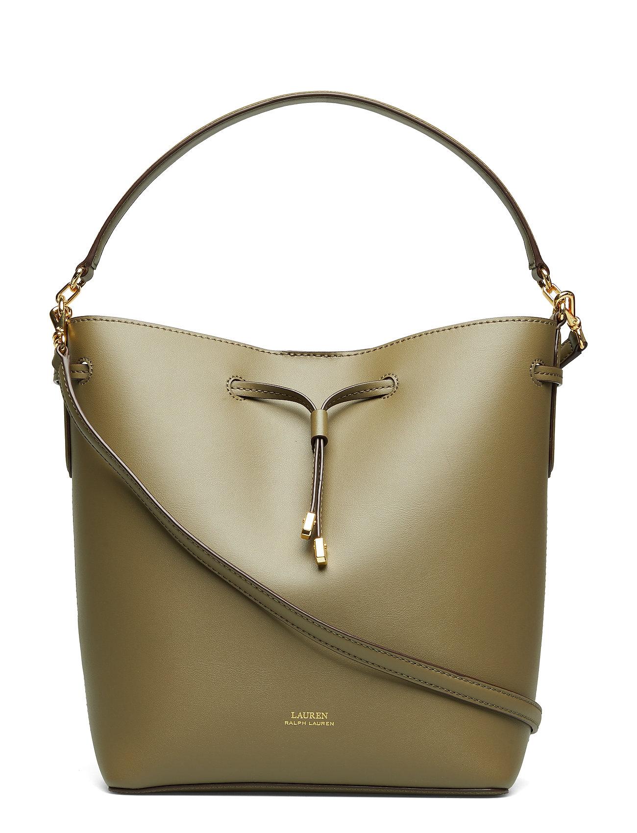 Lauren Ralph Lauren Leather Debby Drawstring Bag - SAGE/VANILLA