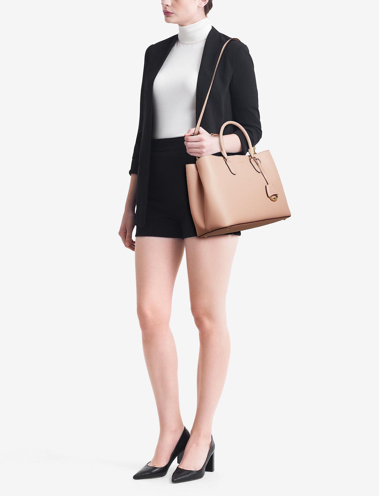 Lauren Ralph Lauren Leather Marcy Satchel - MELLOW PINK/PORCI