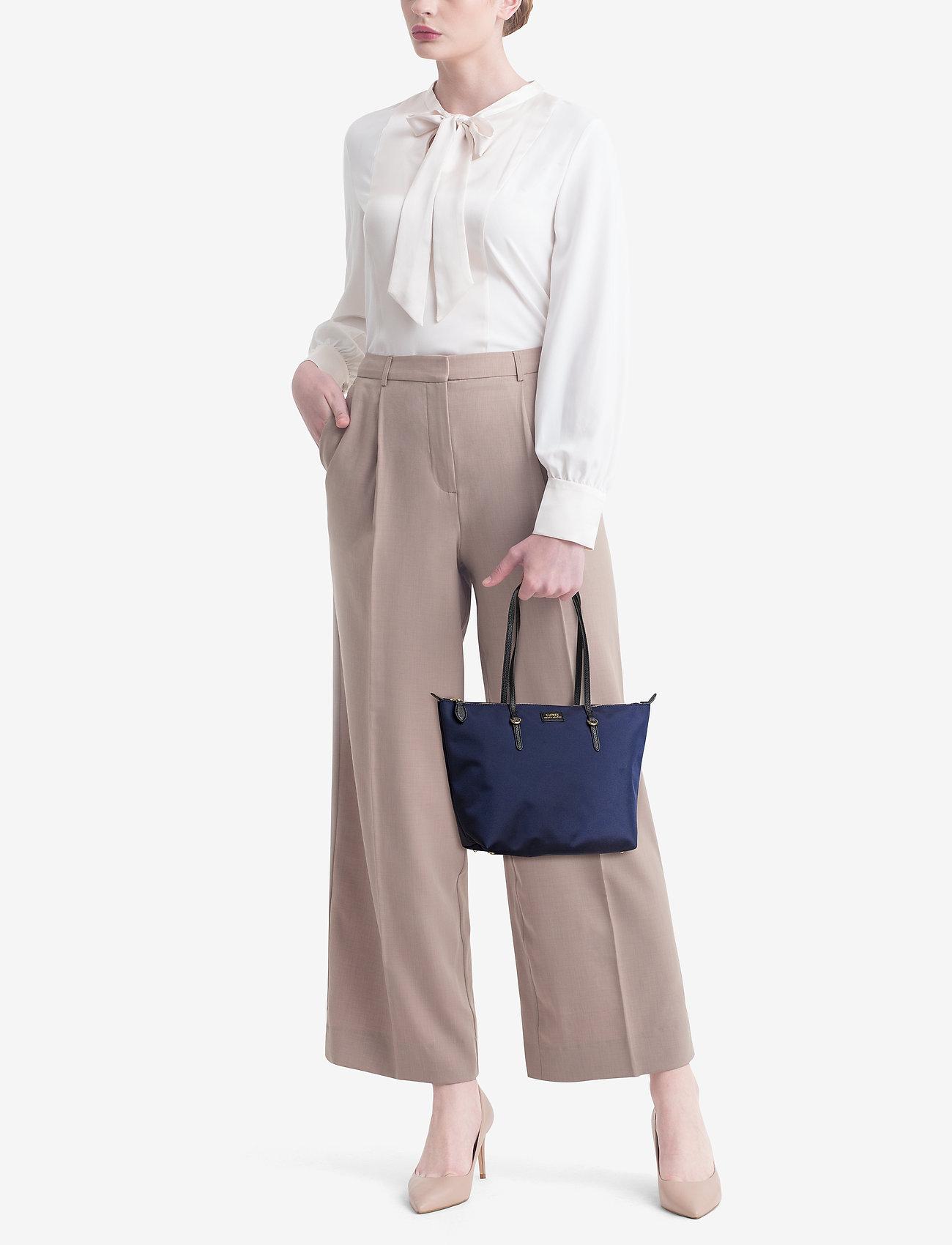 Lauren Ralph Lauren Nylon Shopper Tote - NAVY