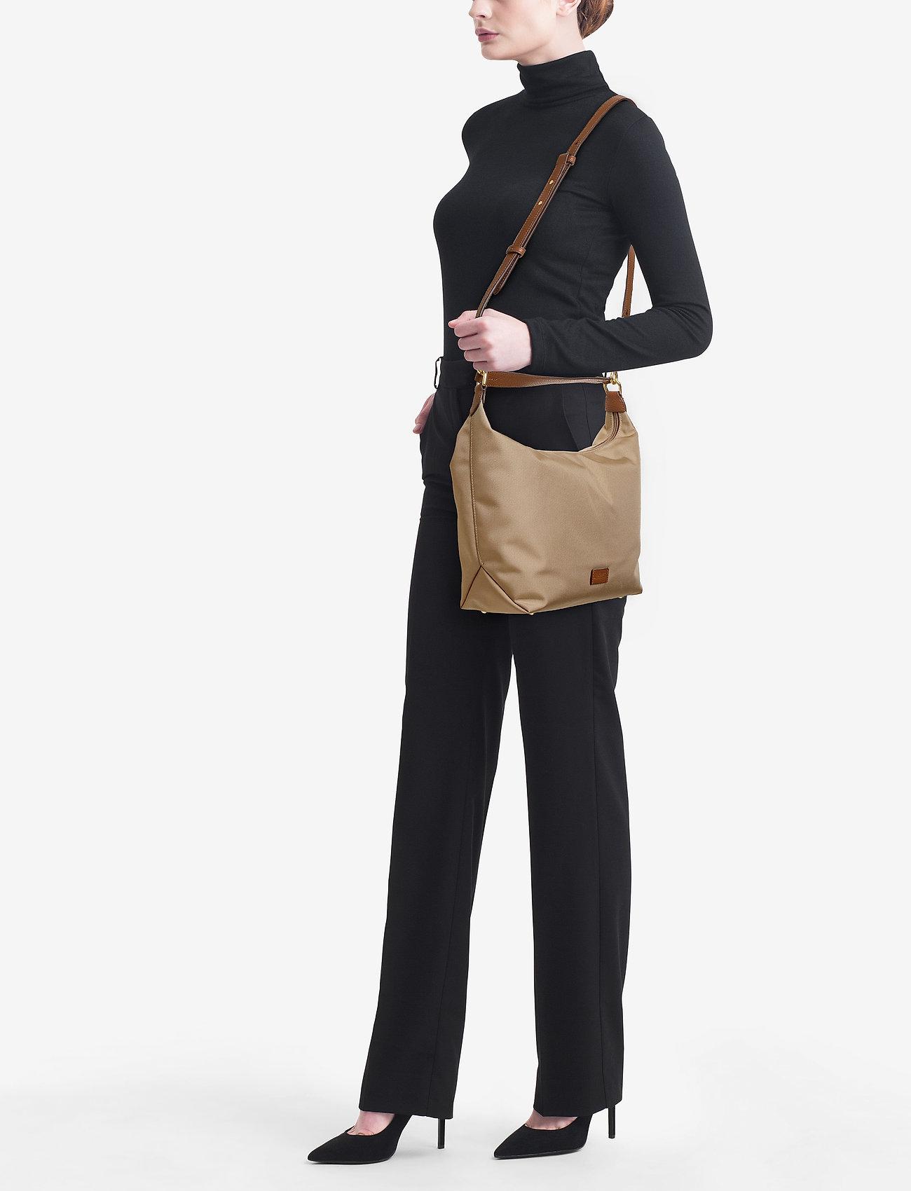 Lauren Ralph Lauren Nylon Hobo Bag - CLAY