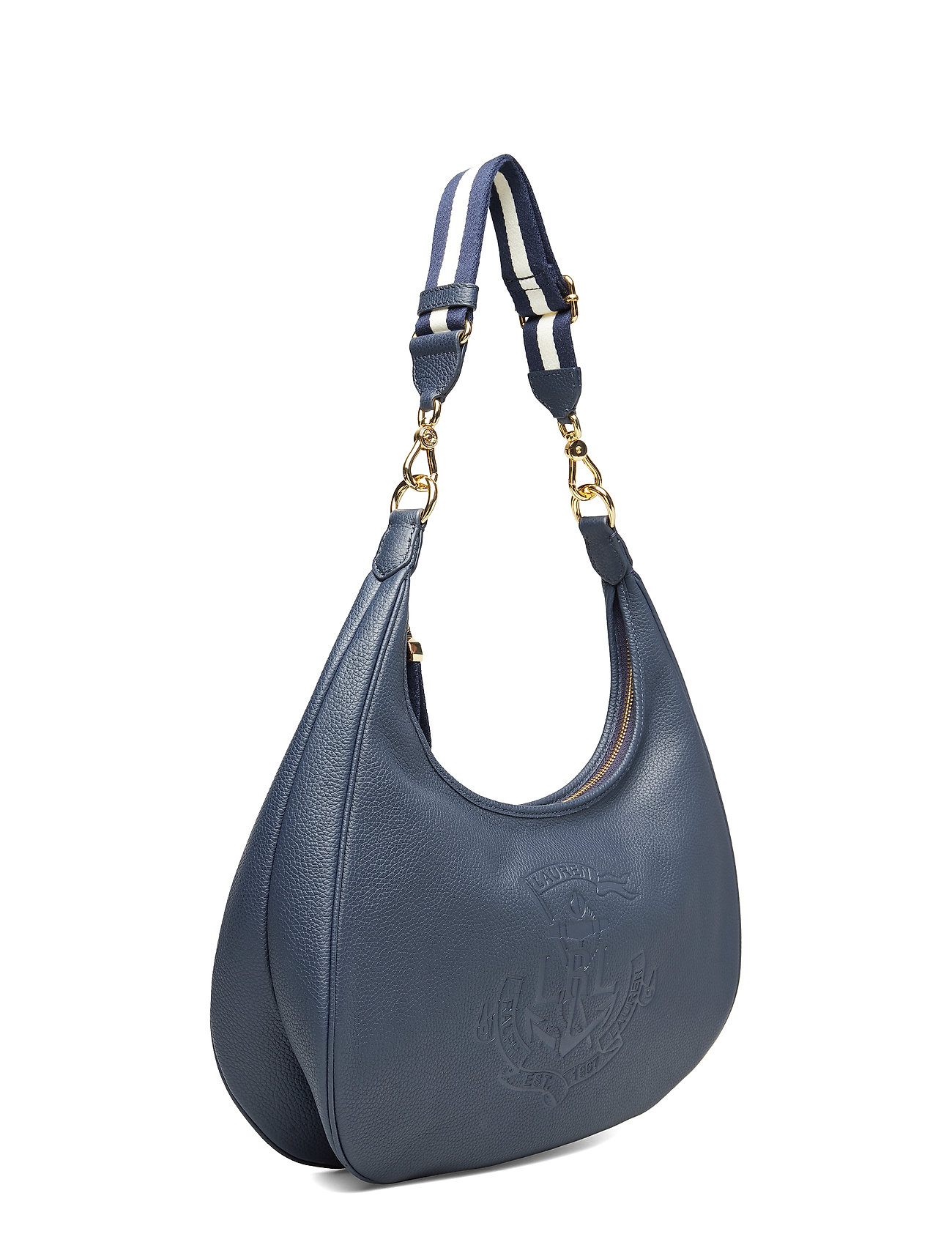Pebbled Pebbled Pebbled Hobo BagnavyLauren Hobo Leather Ralph BagnavyLauren Leather Ralph 5RLjq34A
