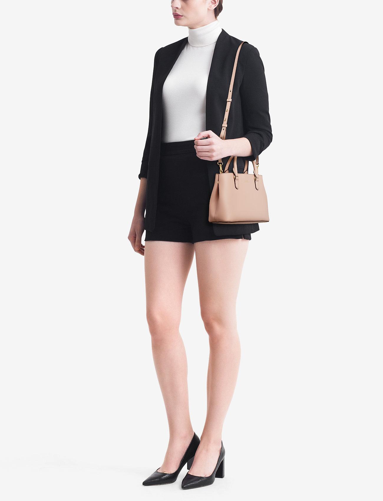 Lauren Ralph Lauren Mini Leather Satchel - MELLOW PINK/PORCI