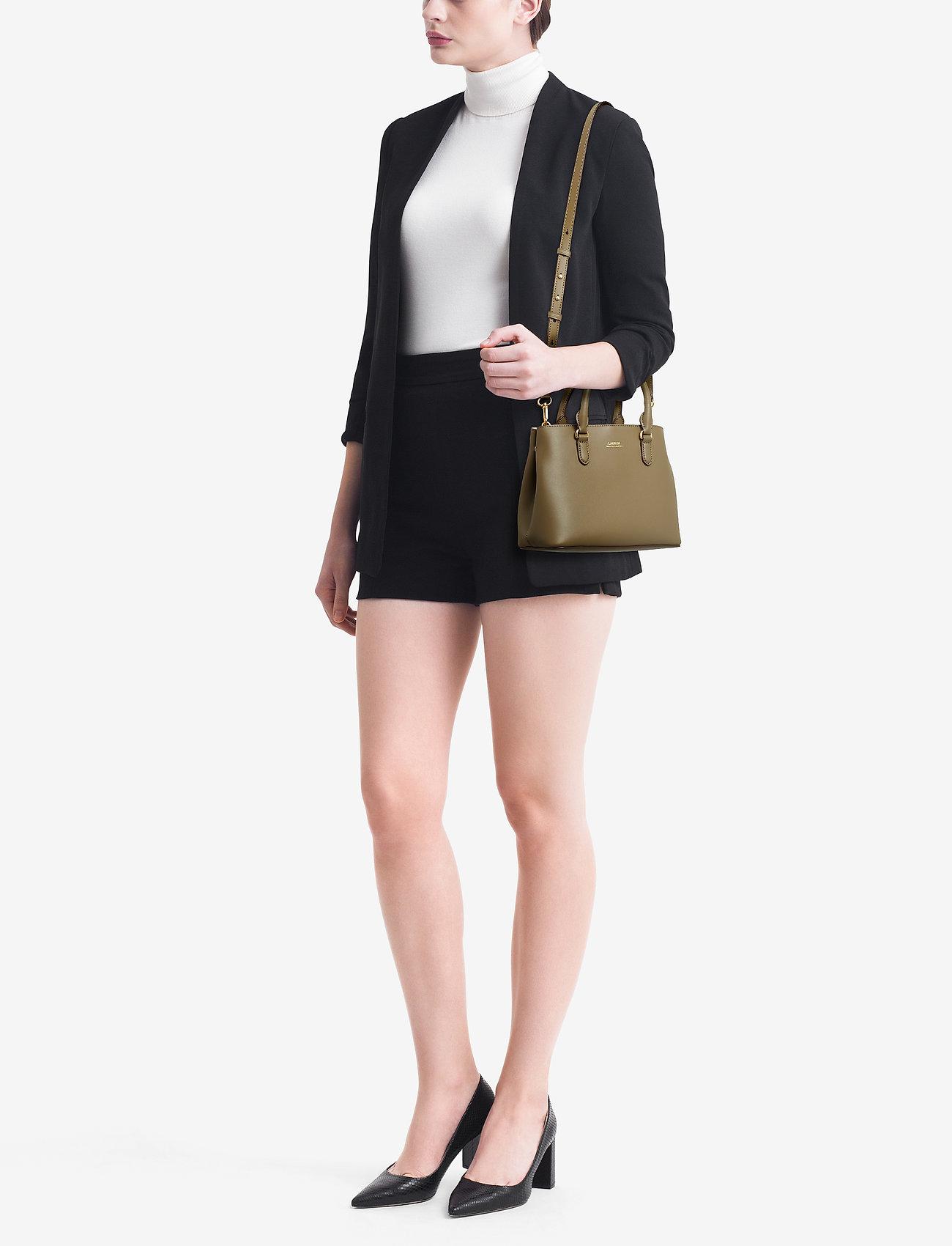 Lauren Ralph Lauren Mini Leather Satchel - SAGE/VANILLA