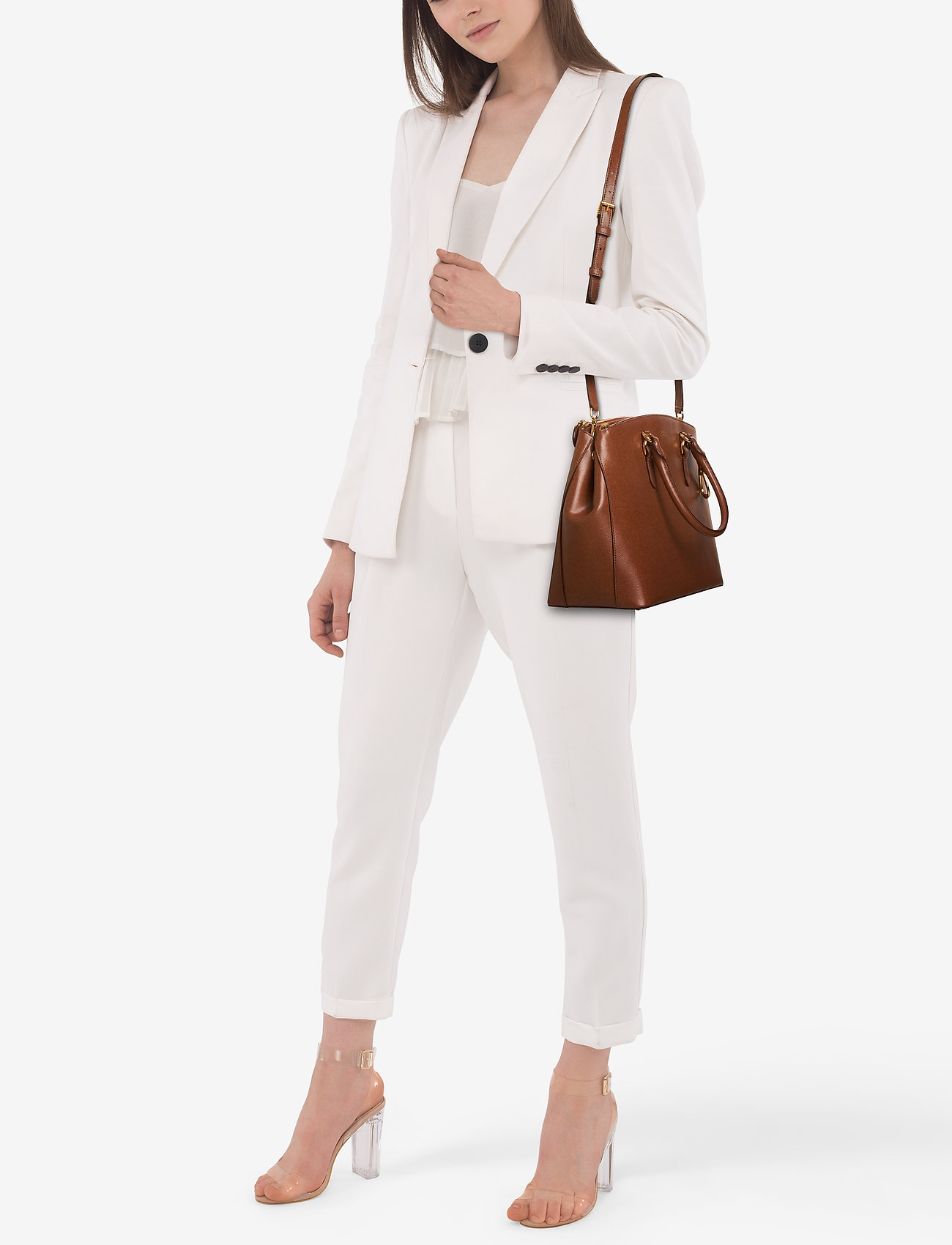 Lauren Ralph Lauren Leather Double-Zip Satchel
