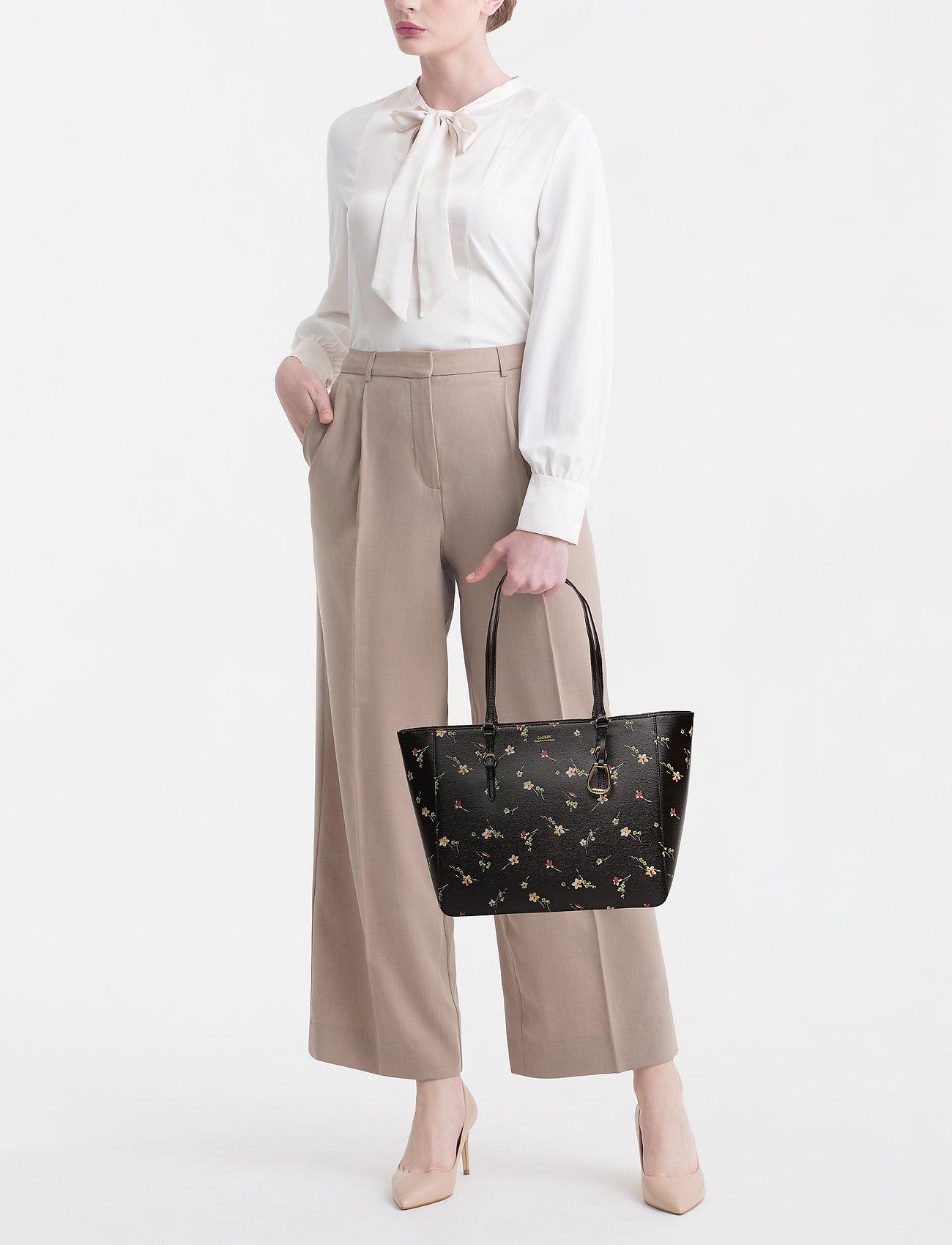b261072d15 Floral Leather Tote (Black Vintage Flo) (161.40 €) - Lauren Ralph ...
