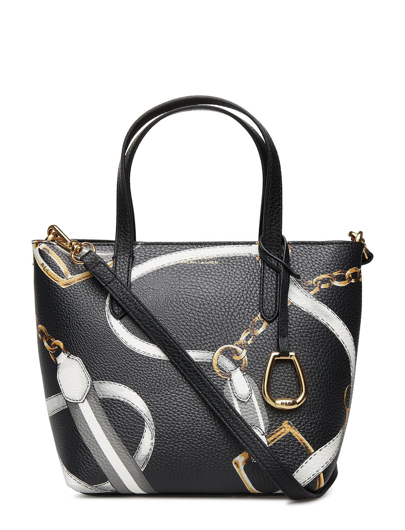 d0f31e965f07 Faux-leather Crossbody Tote (Black Sig Belting) (£145) - Lauren ...