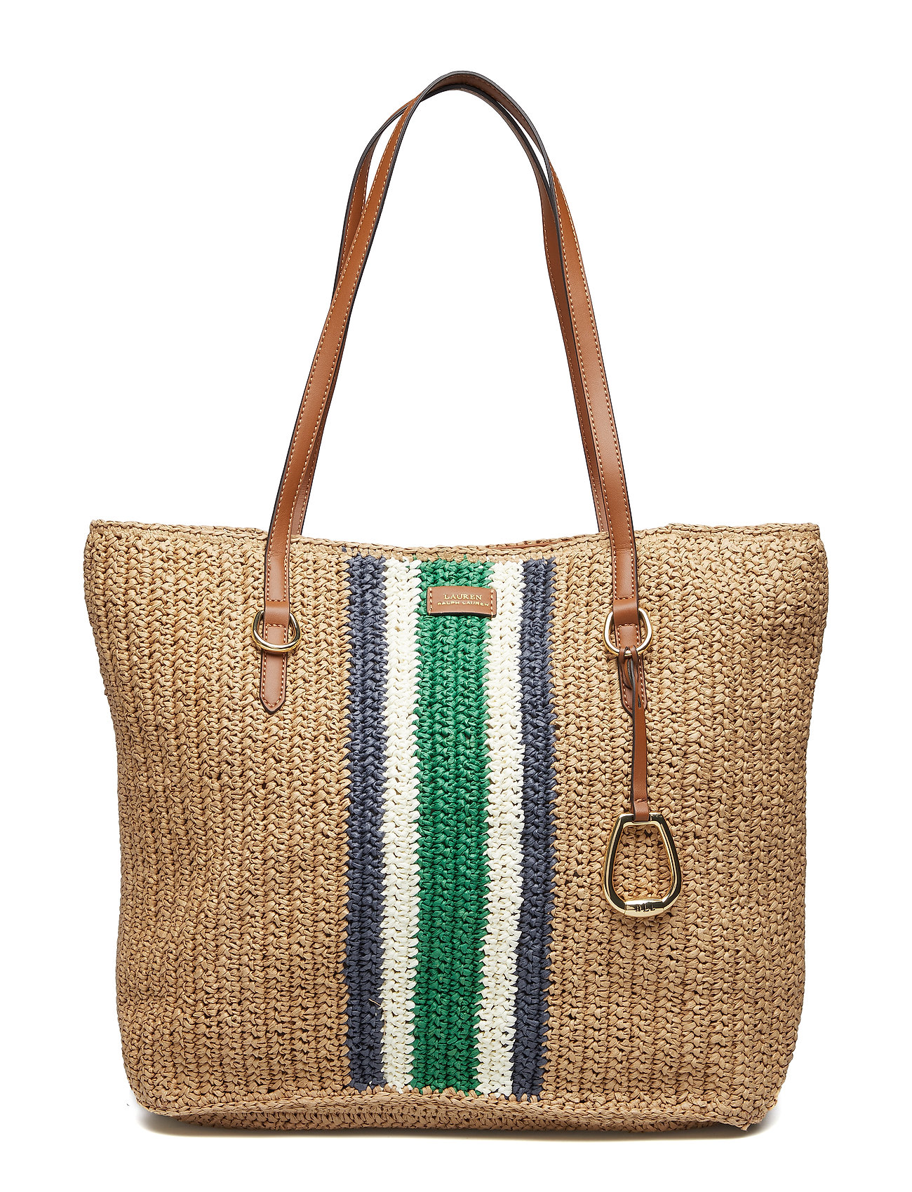 85e94ba28704 Lauren Ralph Lauren Crocheted Straw Large Tote