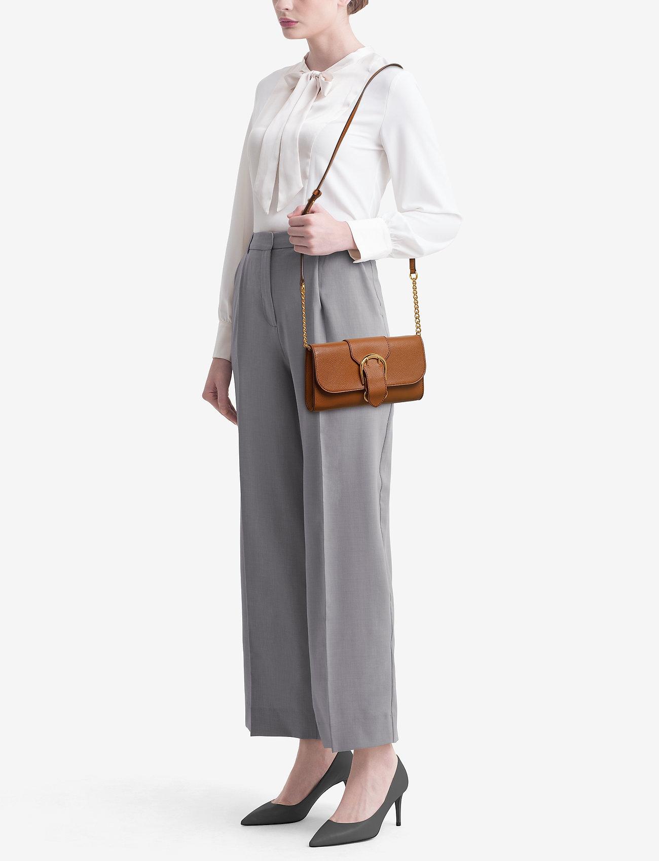 Lauren Ralph Lauren Pebbled Leather Crossbody Bag - LAUREN TAN