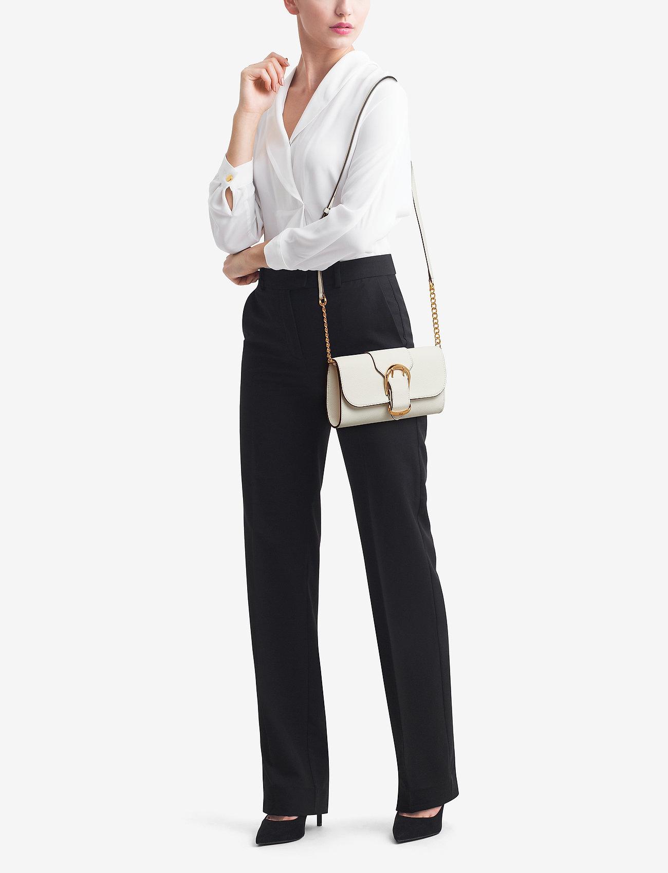 Lauren Ralph Lauren Pebbled Leather Crossbody Bag - VANILLA