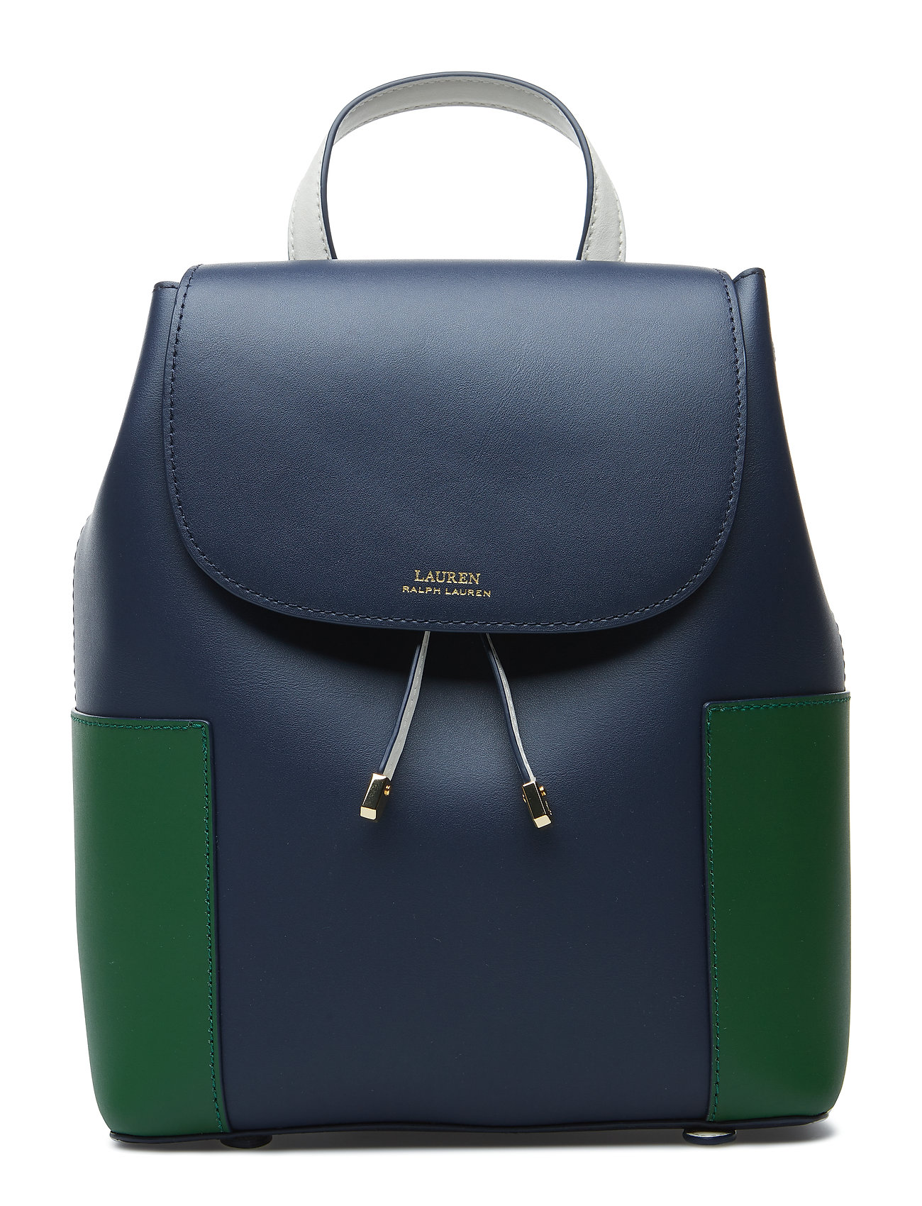 35e7d146f8 Color-blocked Leather Backpack (Navy green Clover) (£196) - Lauren ...