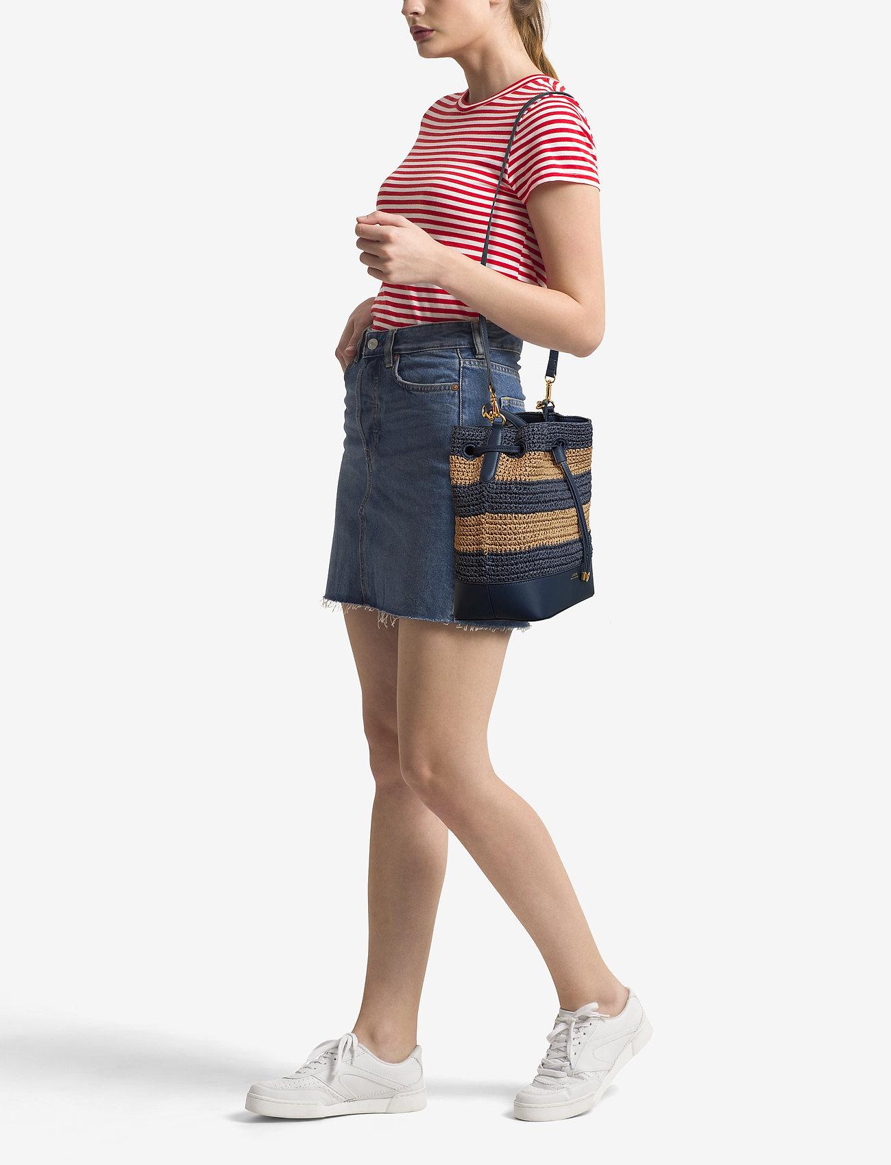 Lauren Ralph Lauren Straw Debby Drawstring Bag