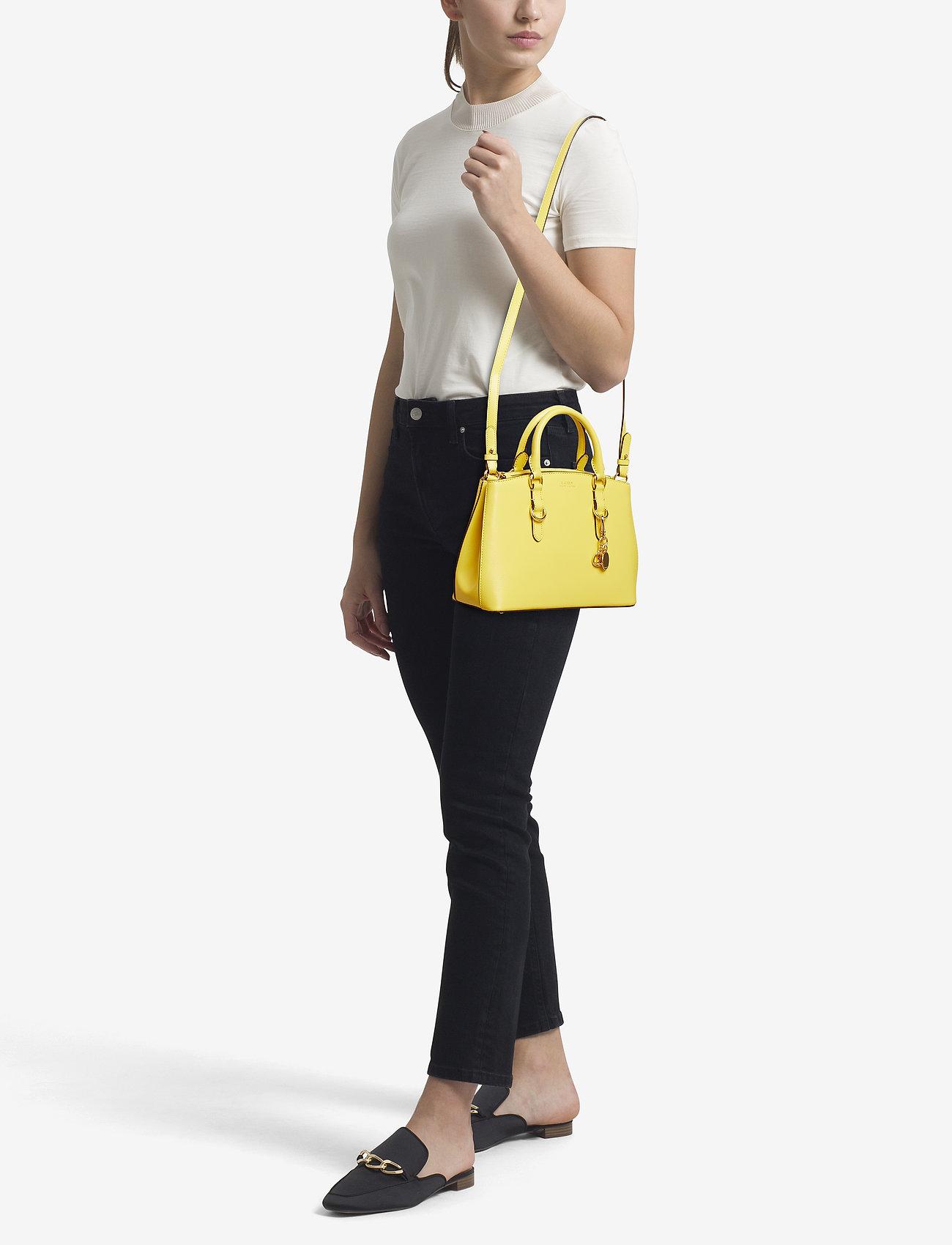 Lauren Ralph Lauren Saffiano Leather Mini Satchel - LEMON SORBET