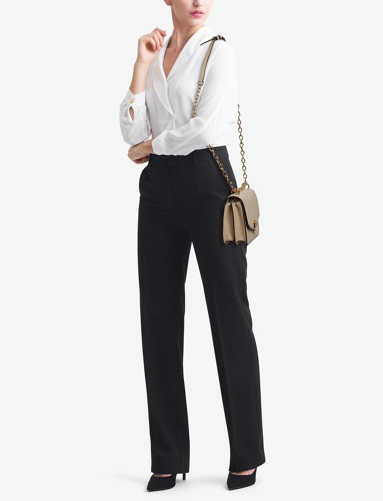 Lauren Ralph Lauren Medium Leather Crossbody Bag - LIGHT SAND