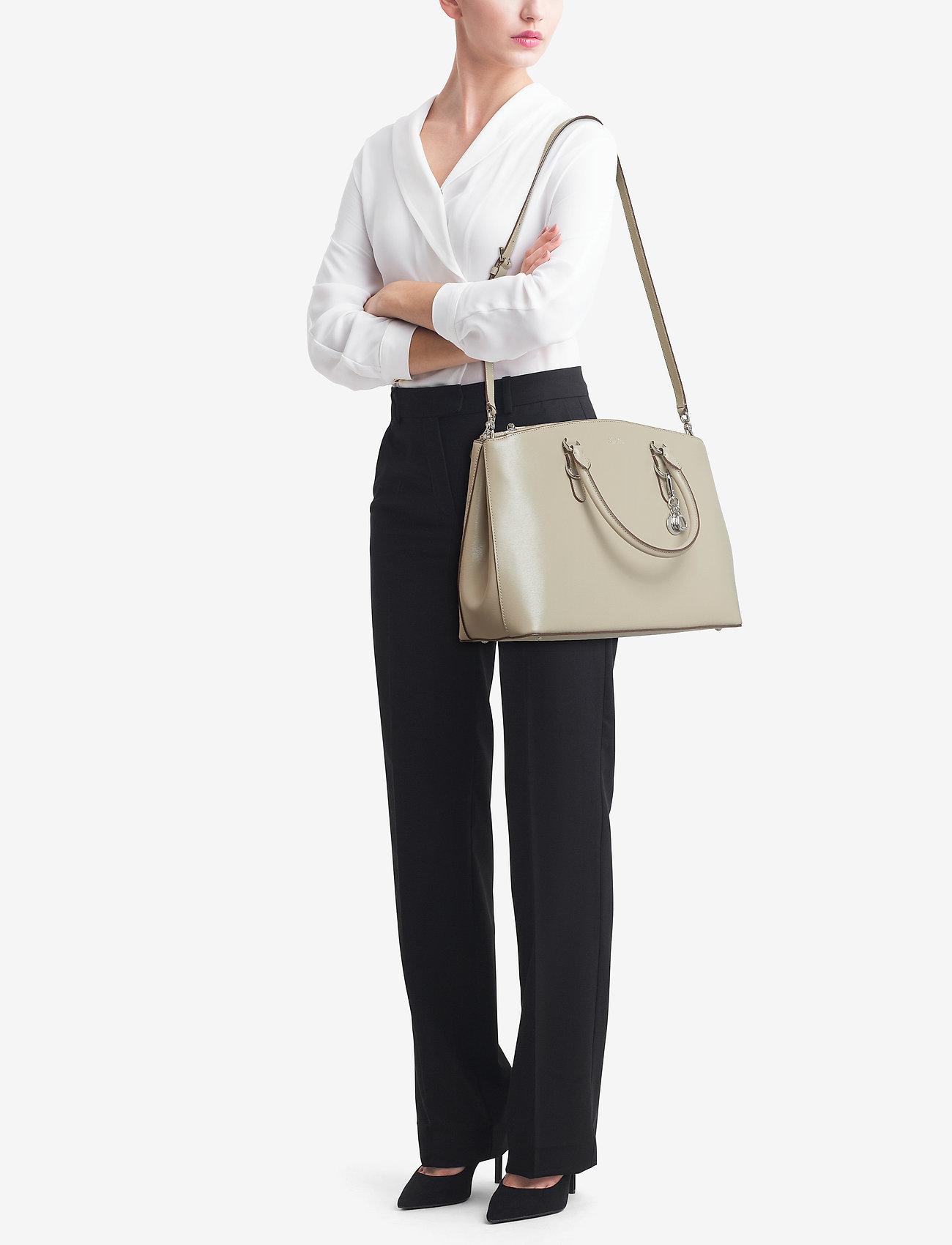 Lauren Ralph Lauren Saffiano Leather Large Satchel