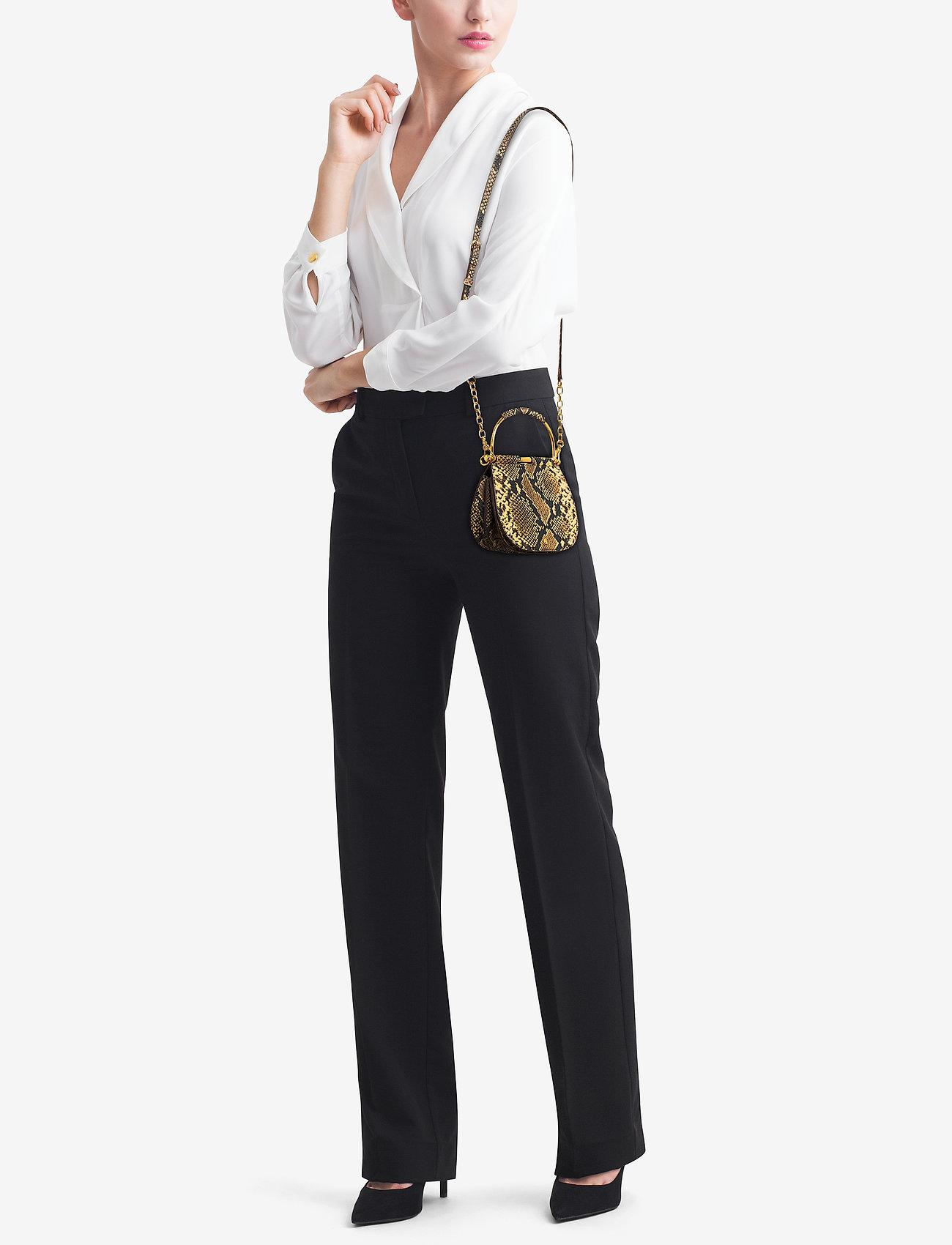 Lauren Ralph Lauren Mini Leather Round Satchel - OATMEAL MULTI