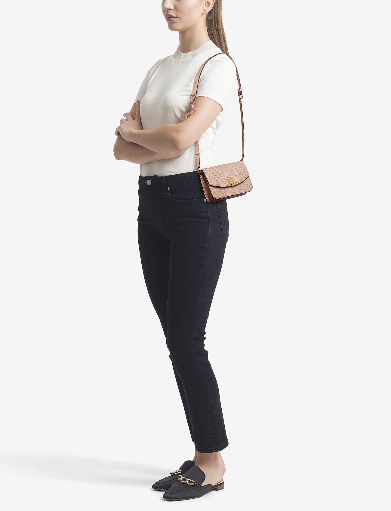 Lauren Ralph Lauren Leather Crossbody Bag - MELLOW PINK