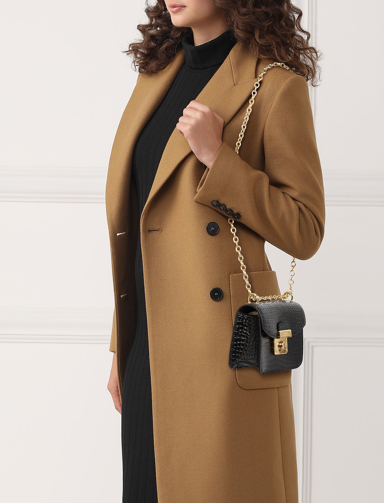 Lauren Ralph Lauren Mini Beckett Crossbody Bag - BLACK