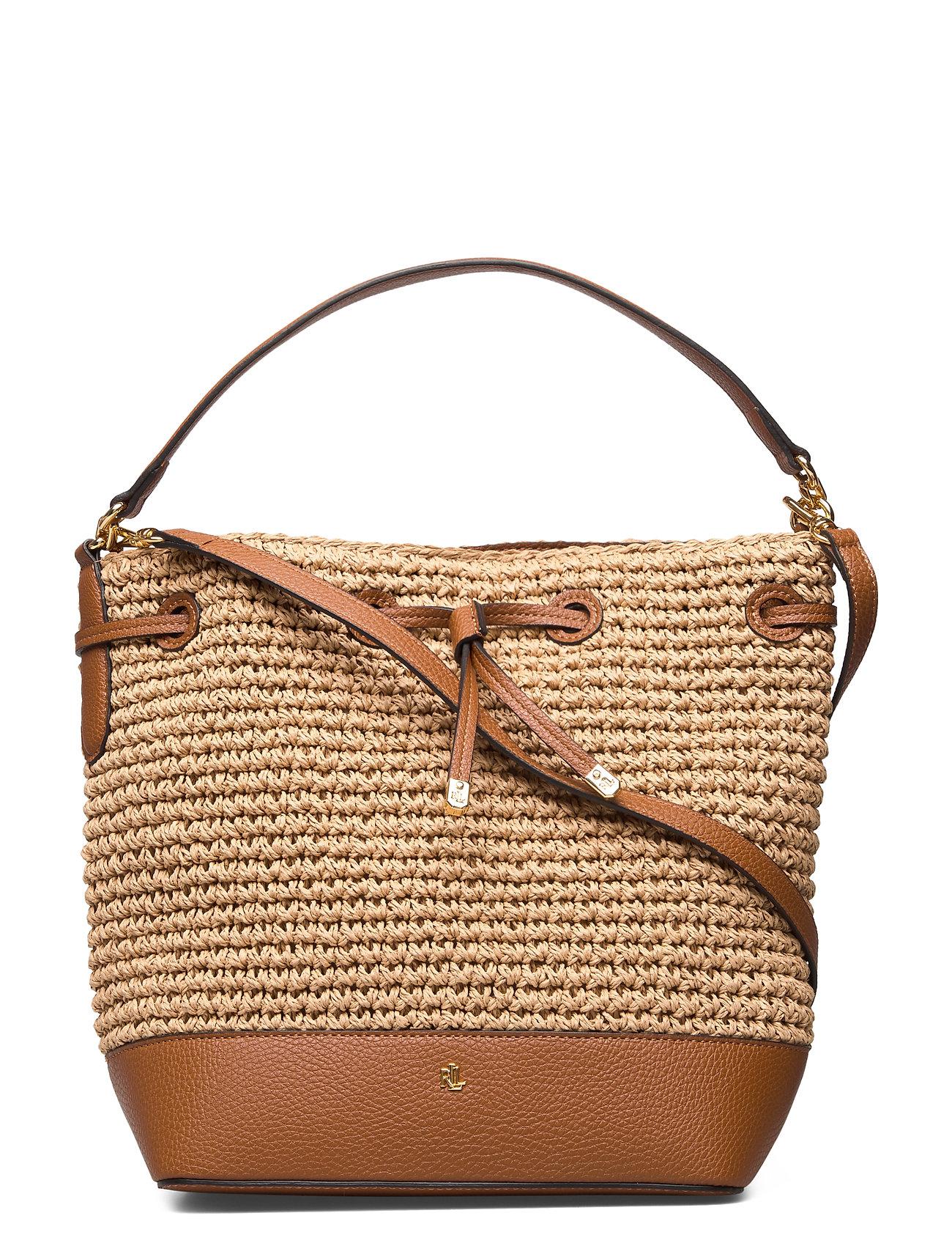 Lauren Ralph Lauren Straw Debby Drawstring Bag - NATURAL