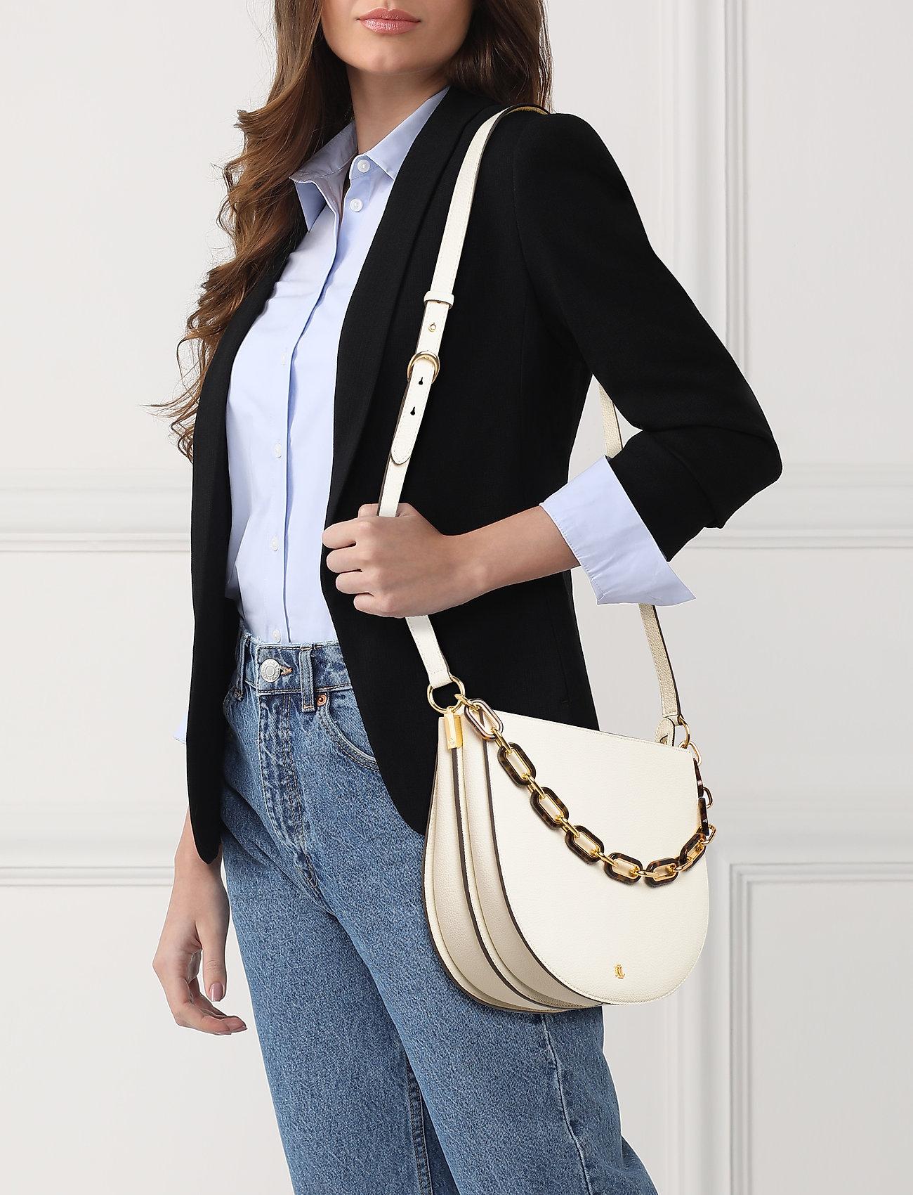 Lauren Ralph Lauren Leather Sawyer Shoulder Bag - VANILLA