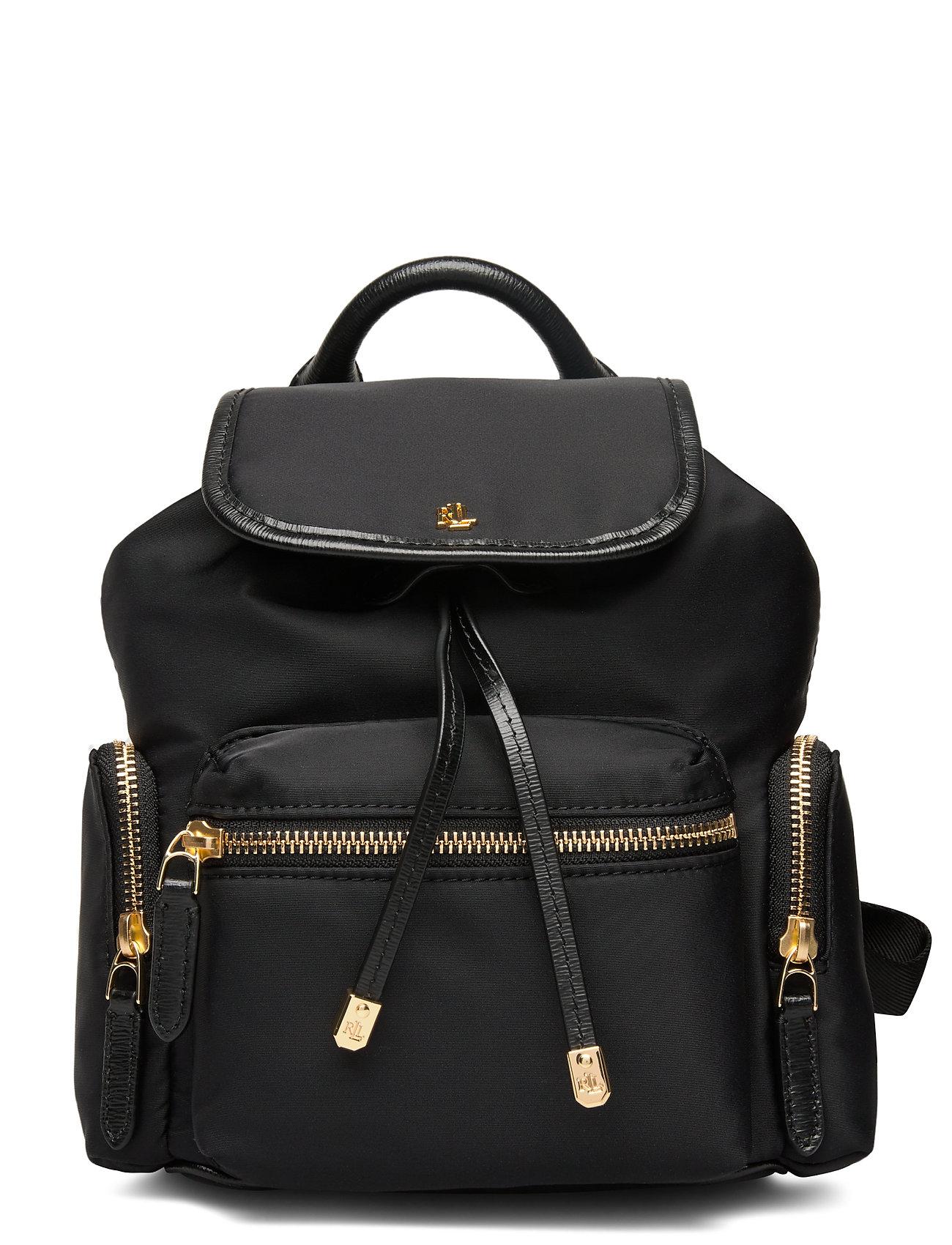 Lauren Ralph Lauren Nylon Keely Small Backpack - BLACK