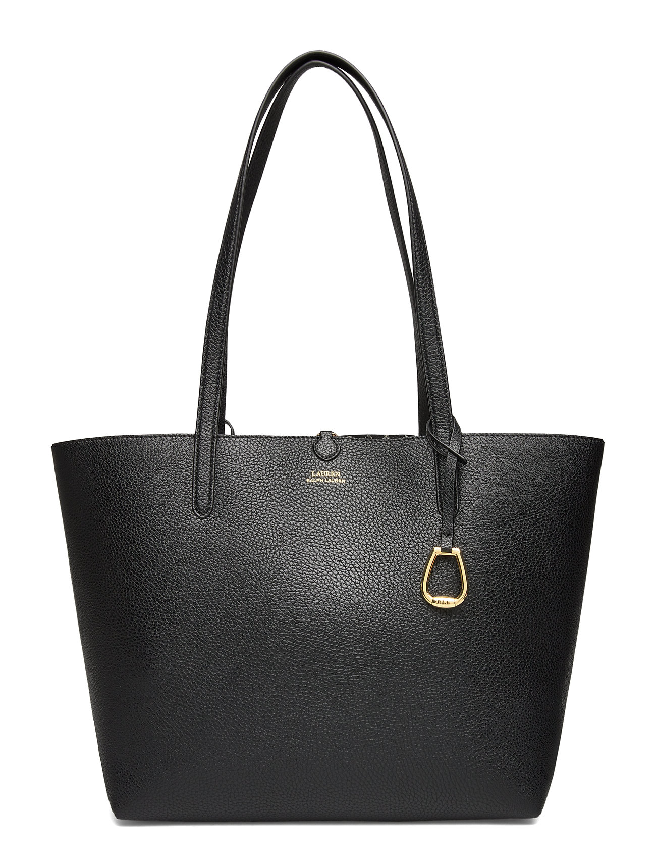 Lauren Ralph Lauren Faux-Leather Reversible Tote - BLACK/BLACK MINI
