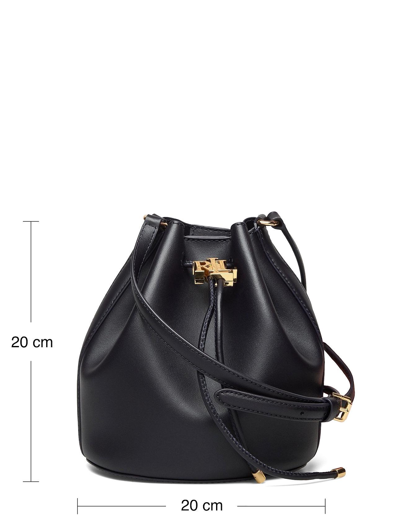 Lauren Ralph Lauren - Leather Medium Andie Drawstring Bag - bucketväskor - lauren navy - 5