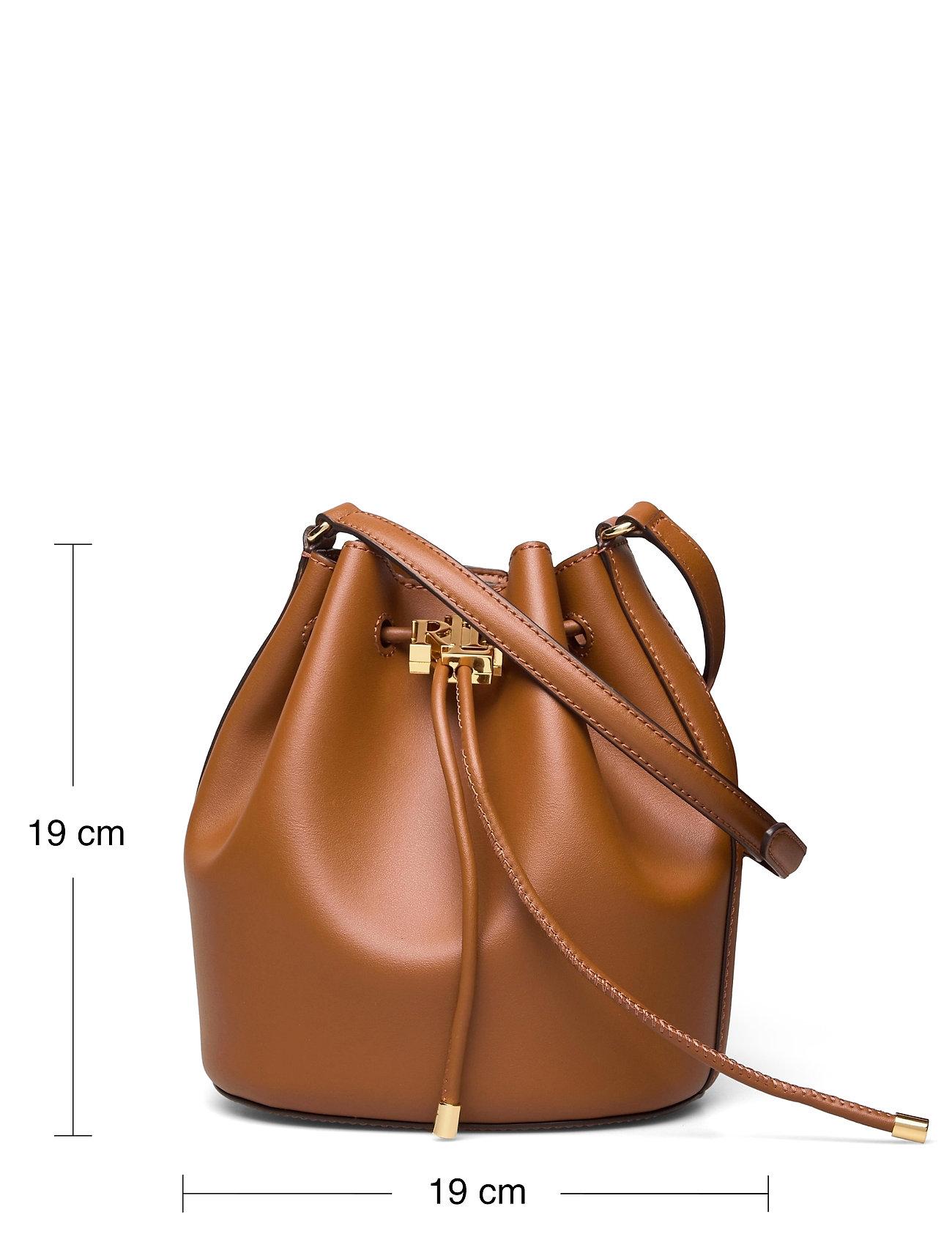 Lauren Ralph Lauren - Leather Medium Andie Drawstring Bag - bucketväskor - lauren tan - 5