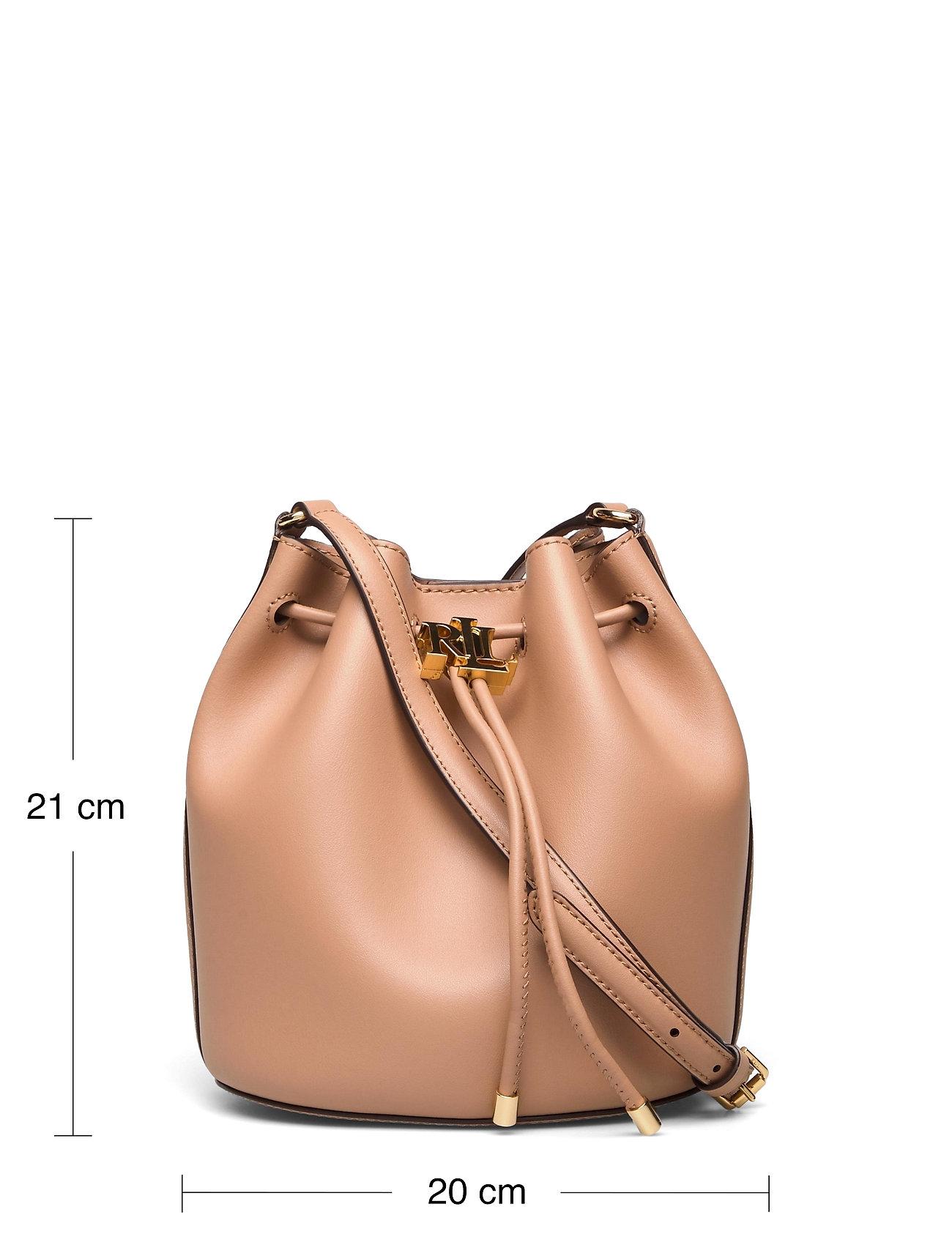 Lauren Ralph Lauren - Leather Medium Andie Drawstring Bag - bucketväskor - nude - 5