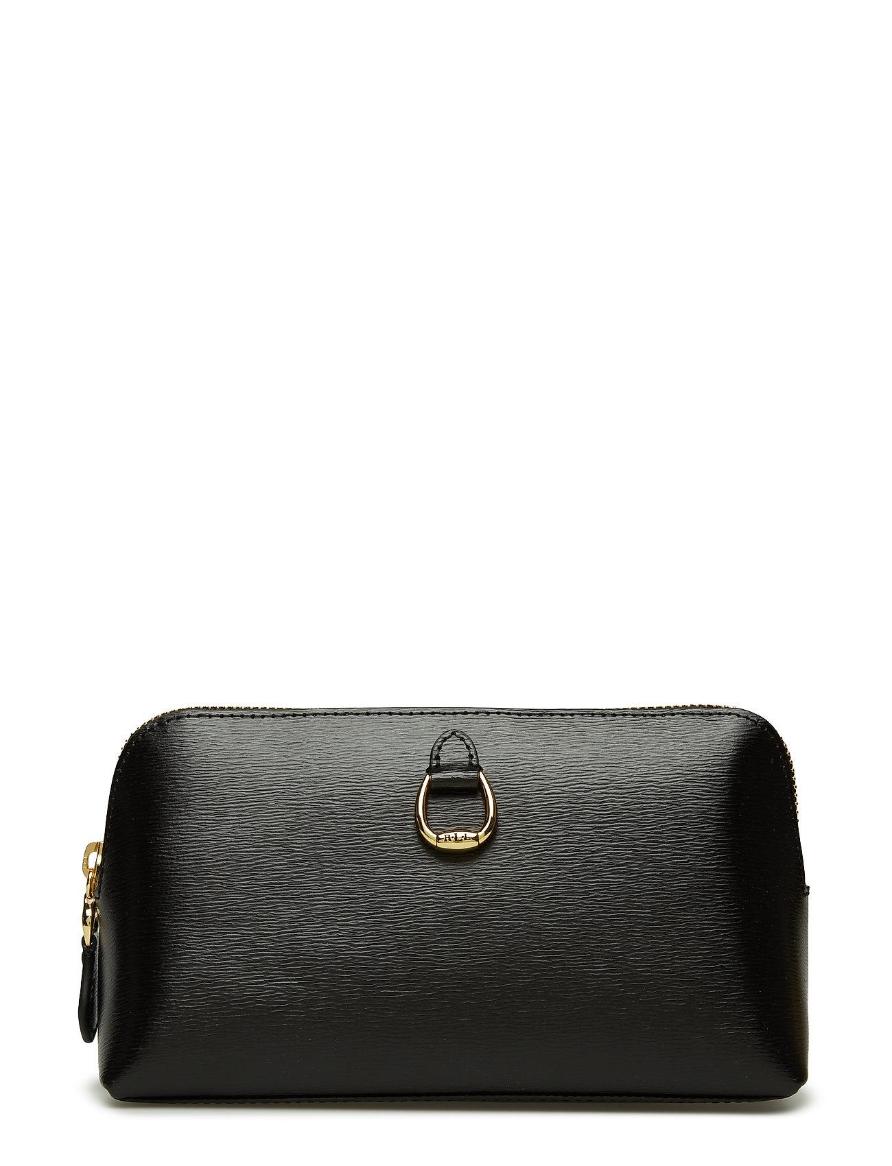 ec67c513bed9 Saffiano Leather Cosmetic Case (Black) (£79) - Lauren Ralph Lauren ...
