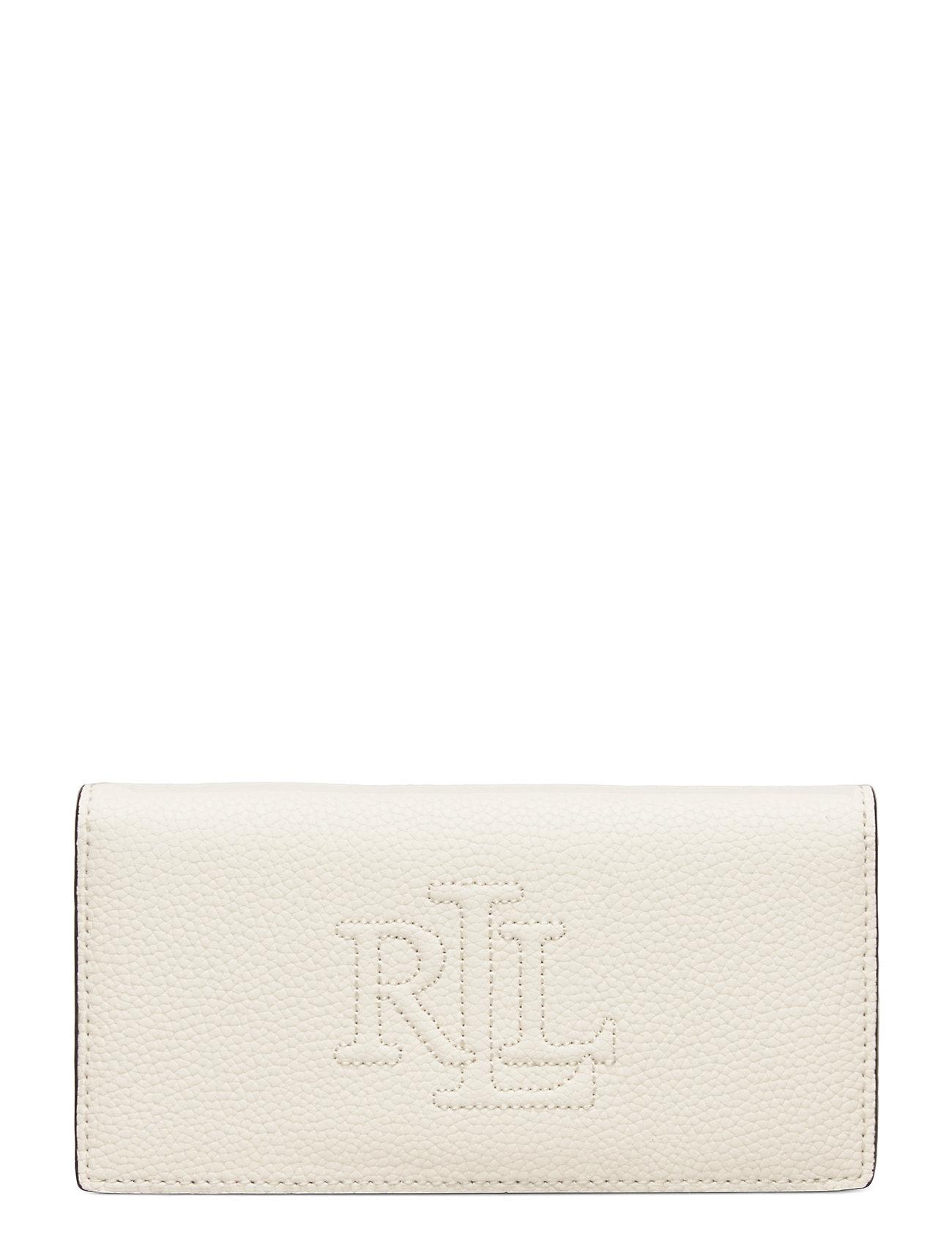 Lauren Ralph Lauren Slim Pebbled Leather Wallet - VANILLA