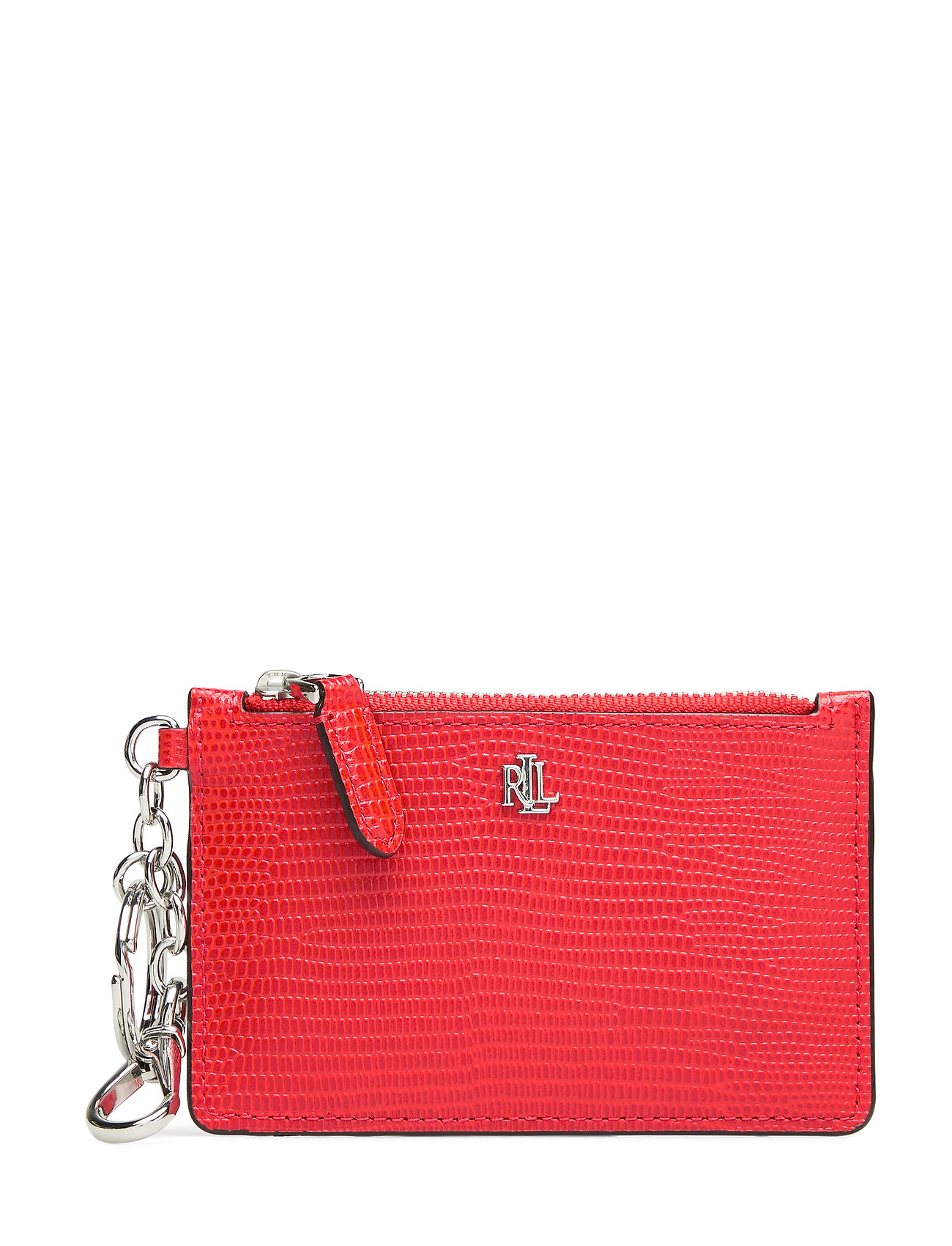 Lauren Ralph Lauren LIZARD EMBOSS-ZIP CARD CAS-CCS-MED - SPORTING RED