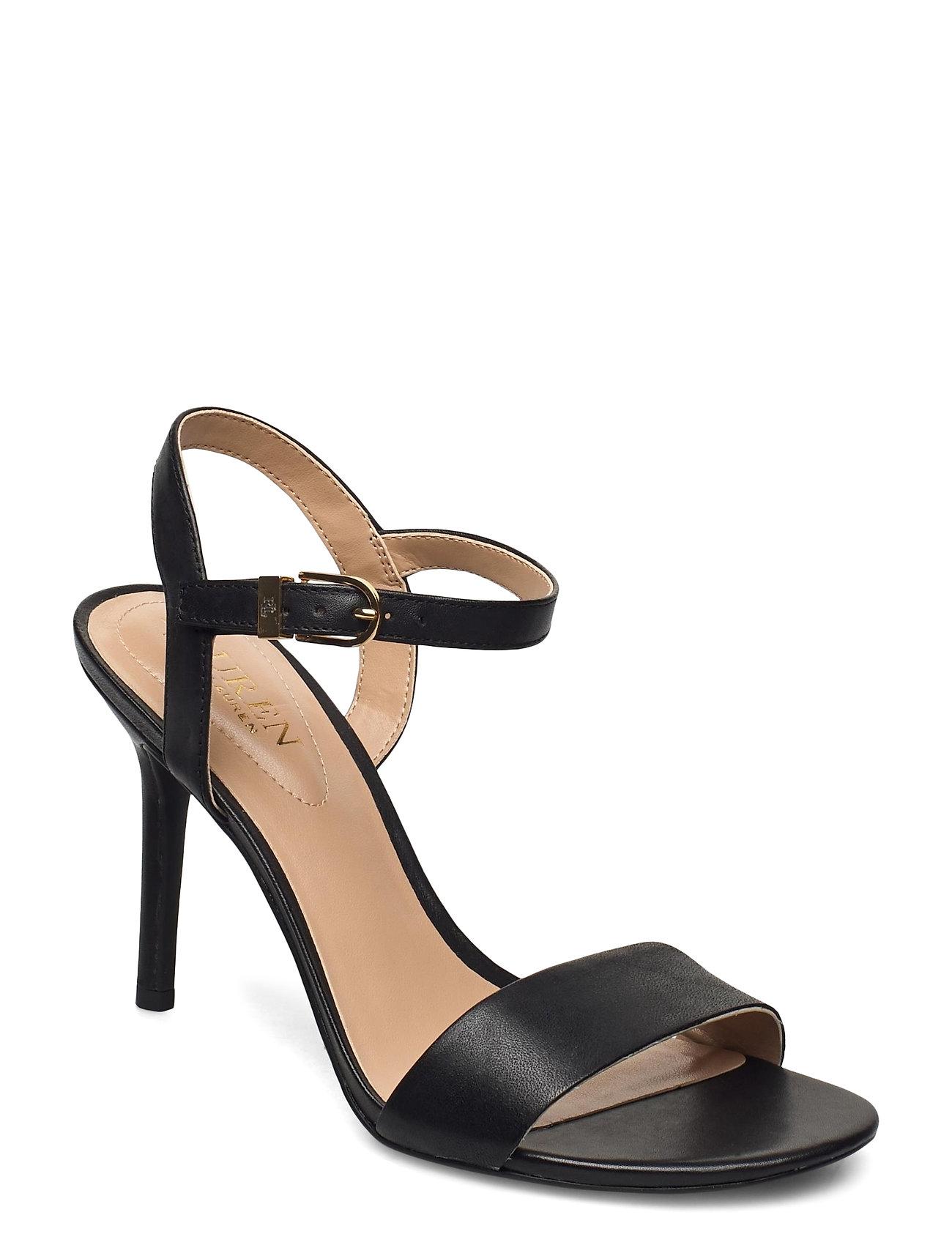 Lauren Ralph Lauren - Gwen Leather Sandal - sandales à talons - black - 0